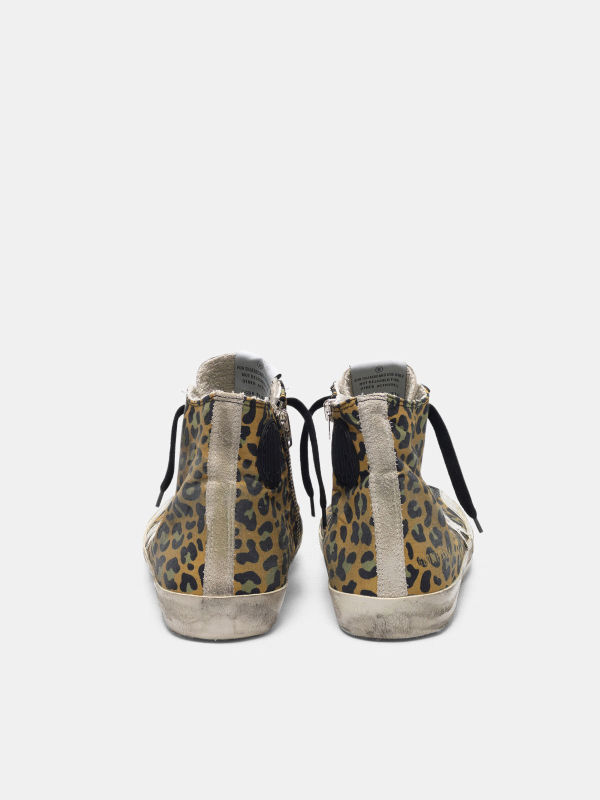 Golden Goose - Sneakers Francy in tela con motivo leopardato e pelle in