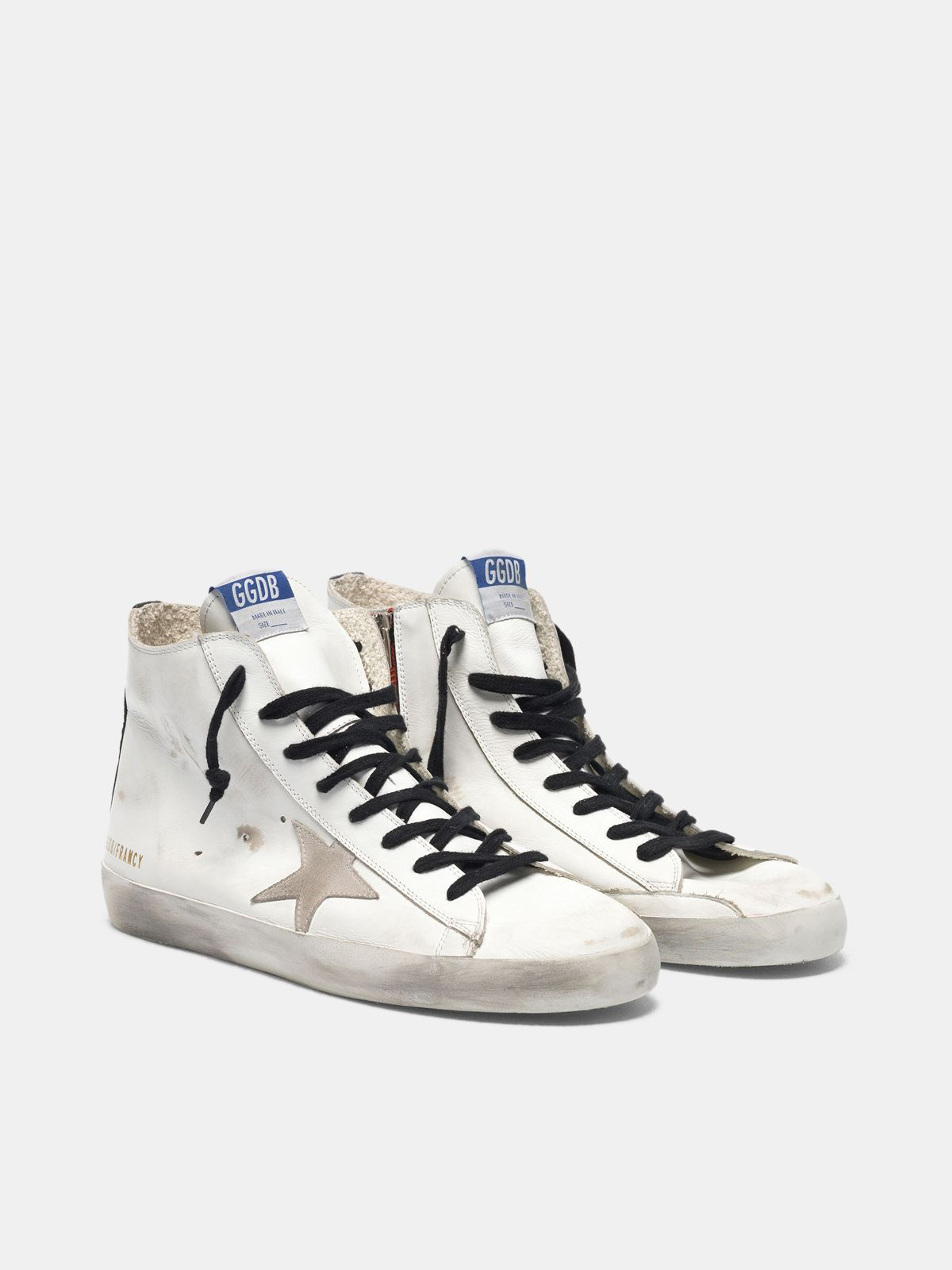 Golden Goose - Francy sneakers in leather with suede star and blue sole in