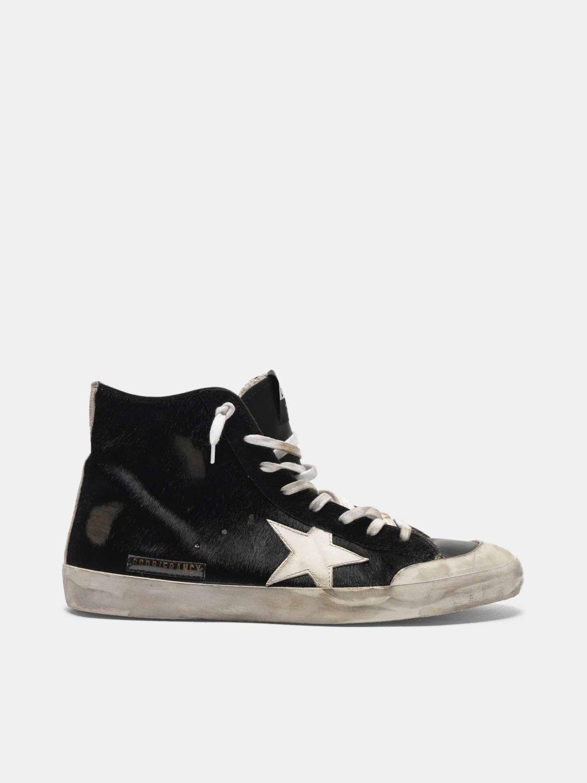 Golden Goose - Sneakers Francy in cavallino con stella a contrasto in