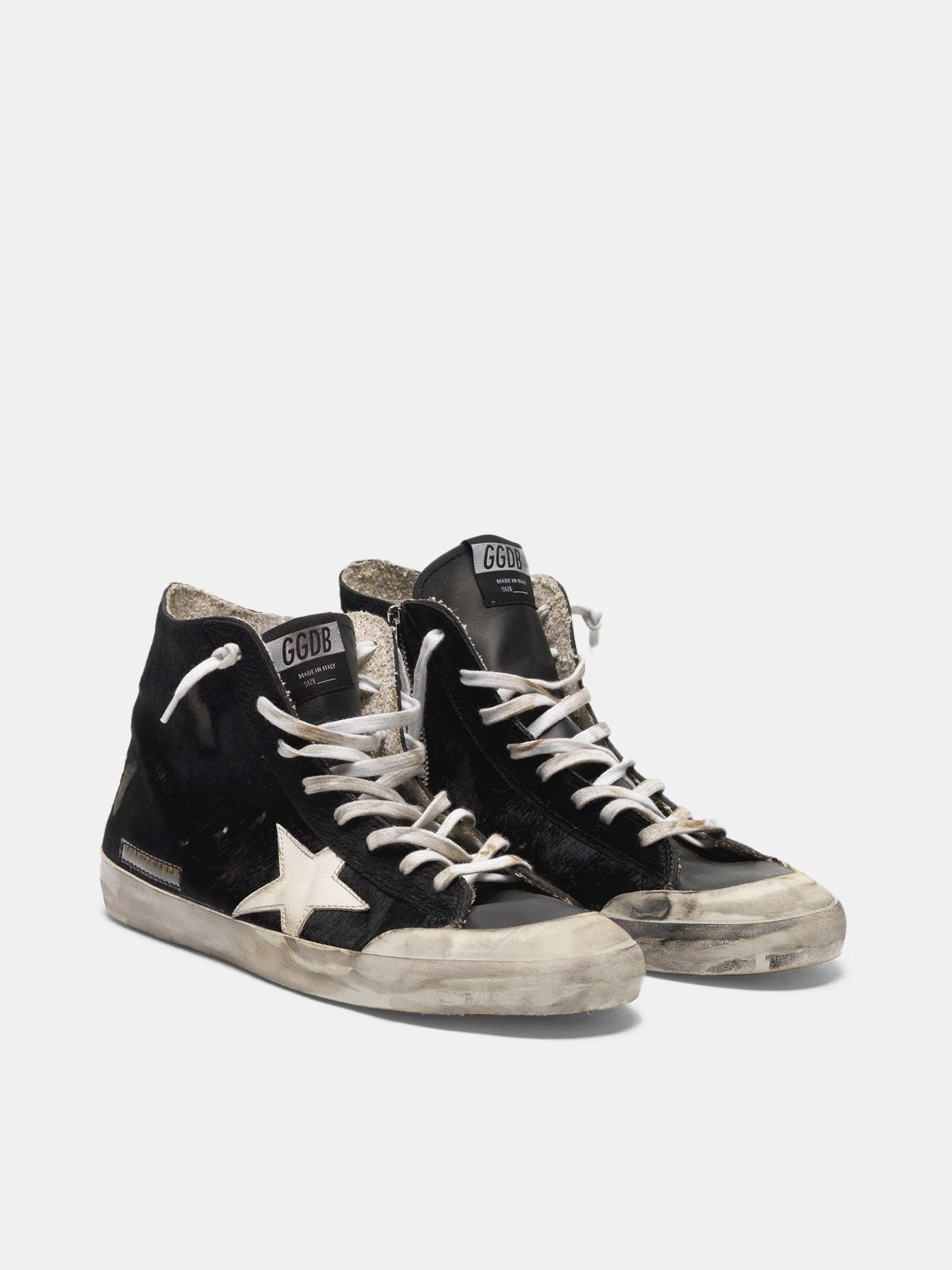 Golden Goose - Francy sneakers in pony skin with contrast star in