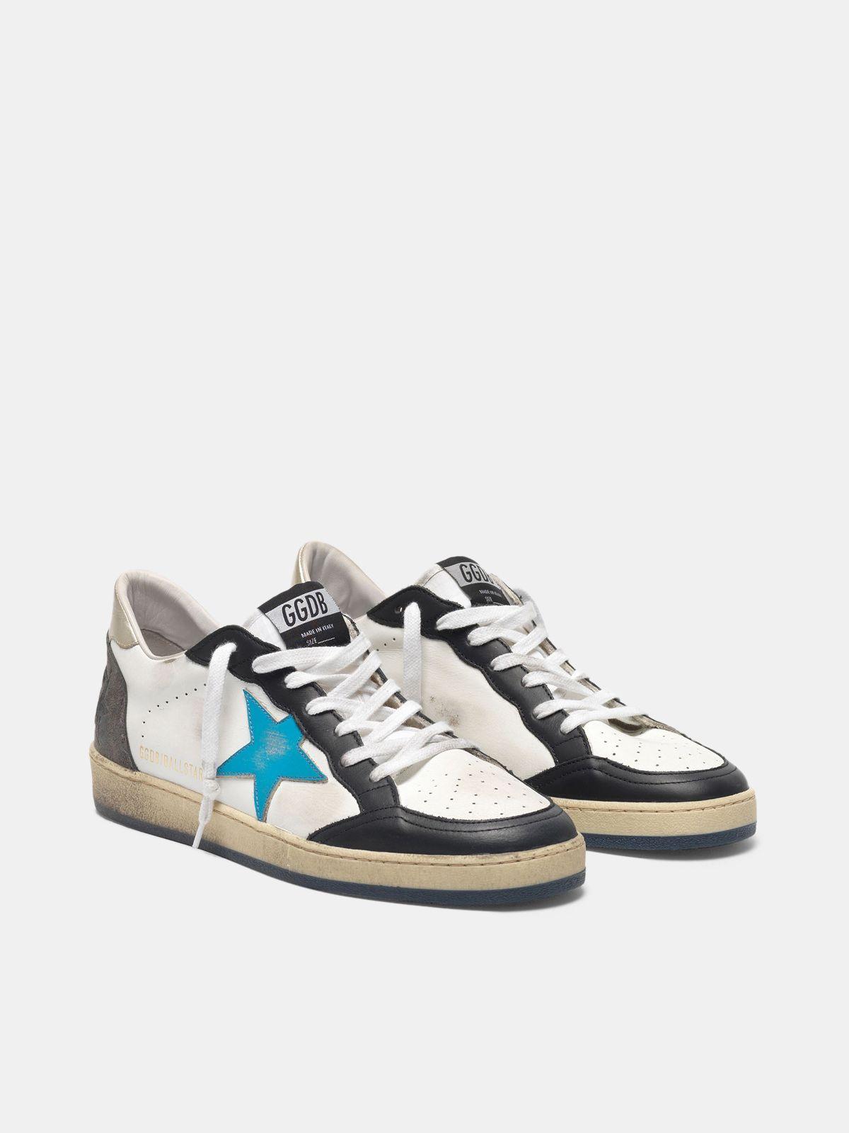 Golden Goose - Ball Star sneakers in leather with metallic heel tab in