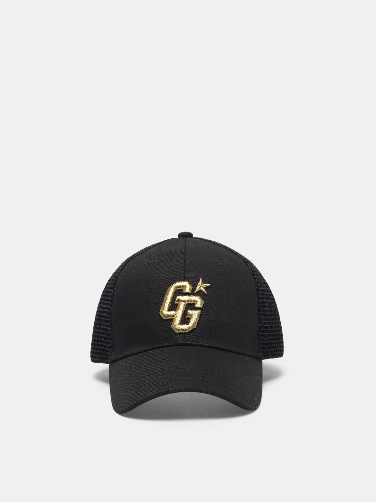 Golden Goose - Aki baseball cap with GG embroidery and mesh back in