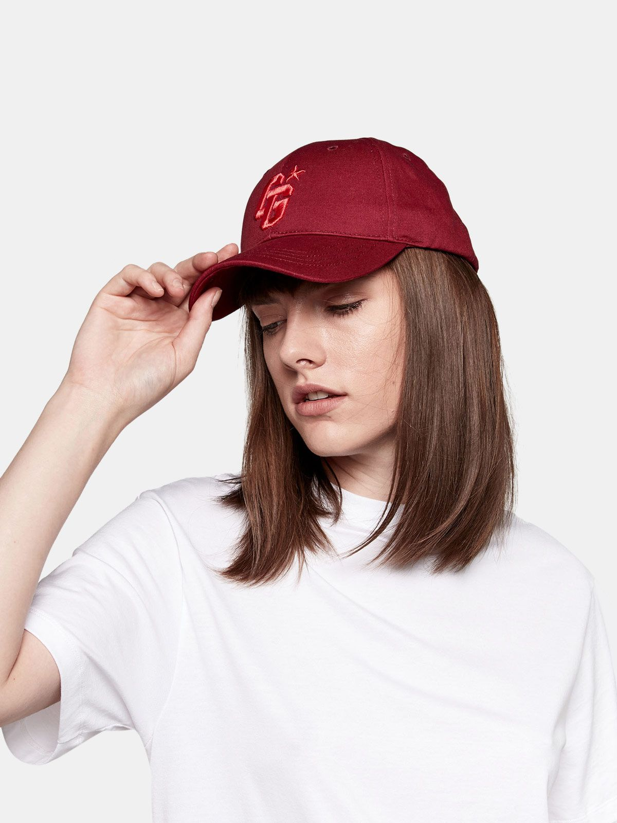 Golden Goose - Aki baseball cap with thread embroidery  in