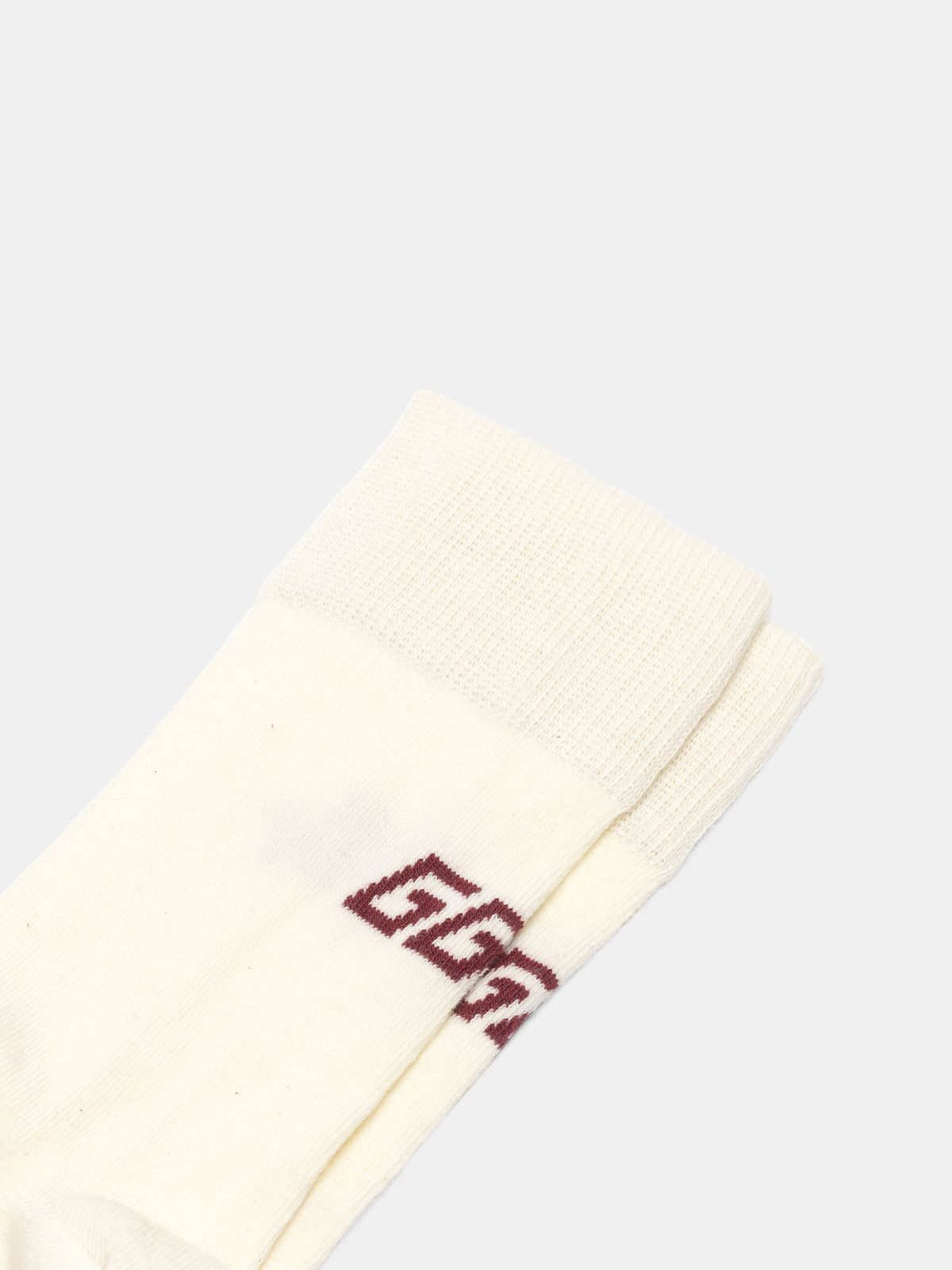 Golden Goose - Yui cotton socks with contrasting logo in