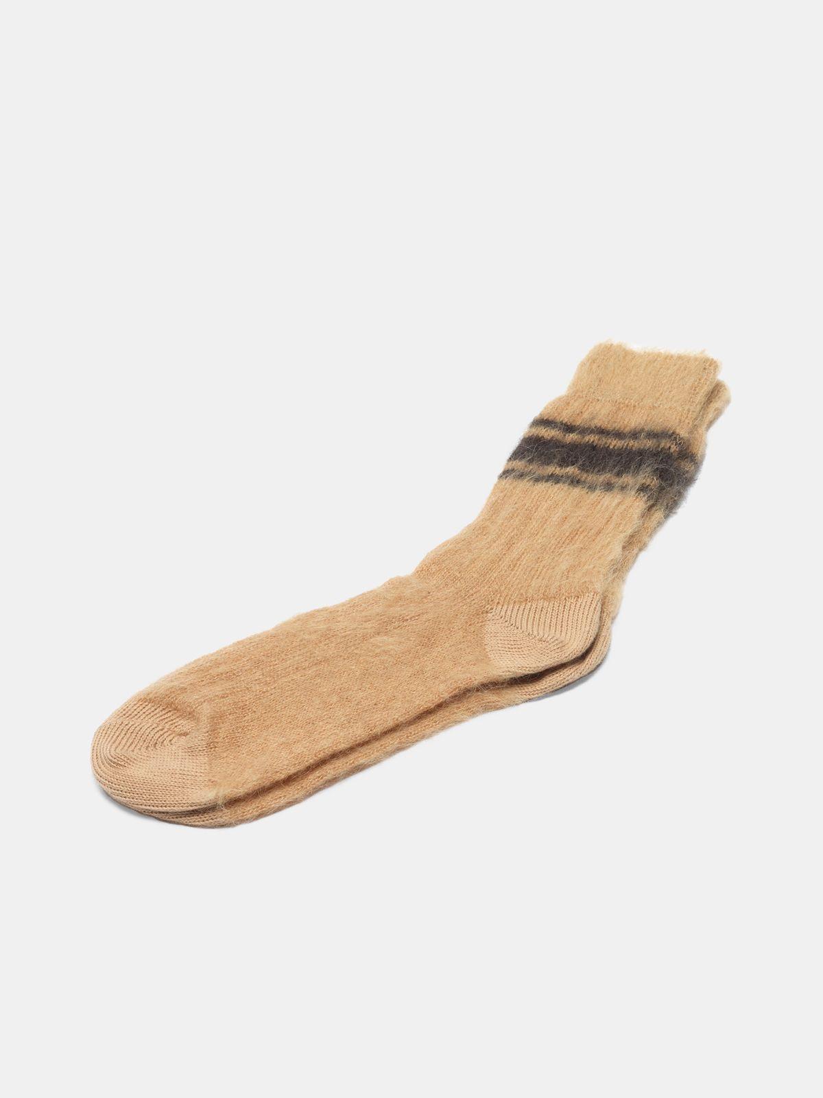 Golden Goose - Tsutsuji socks made of brushed mohair wool in
