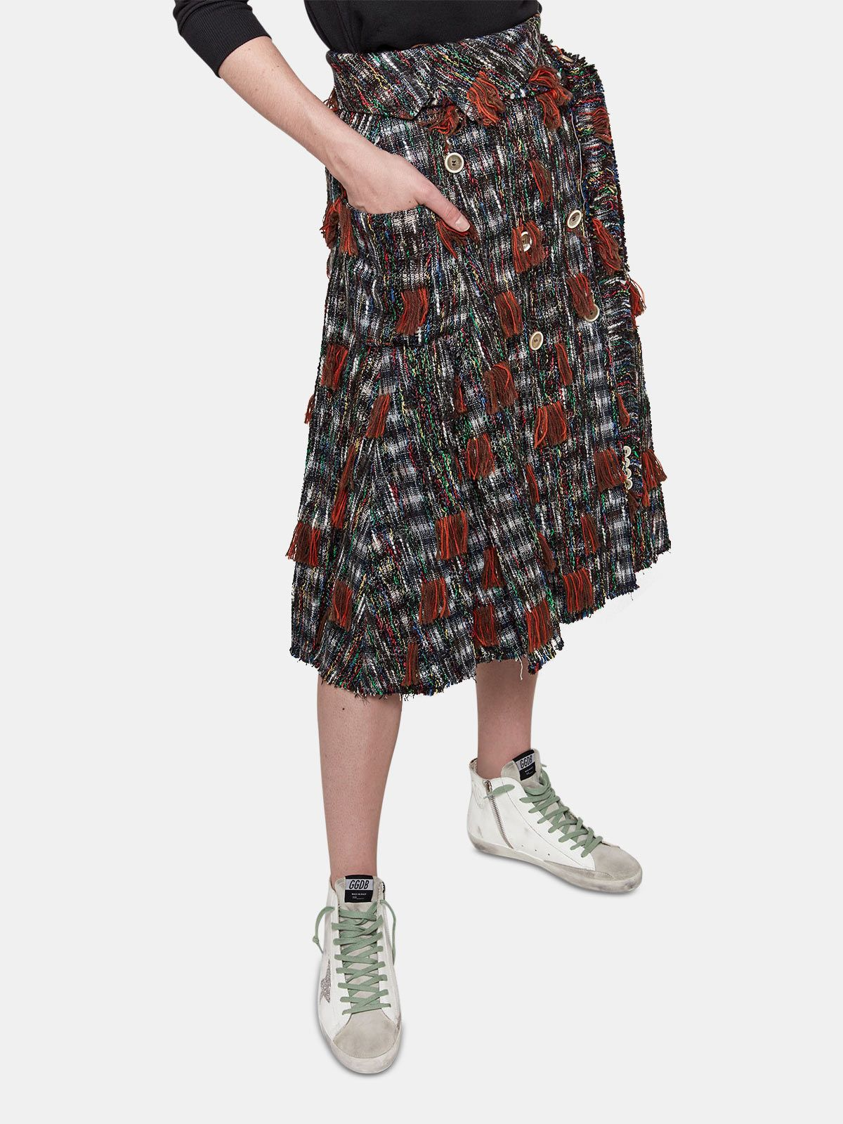 Golden Goose - Gonna Makiko in tweed multicolor in