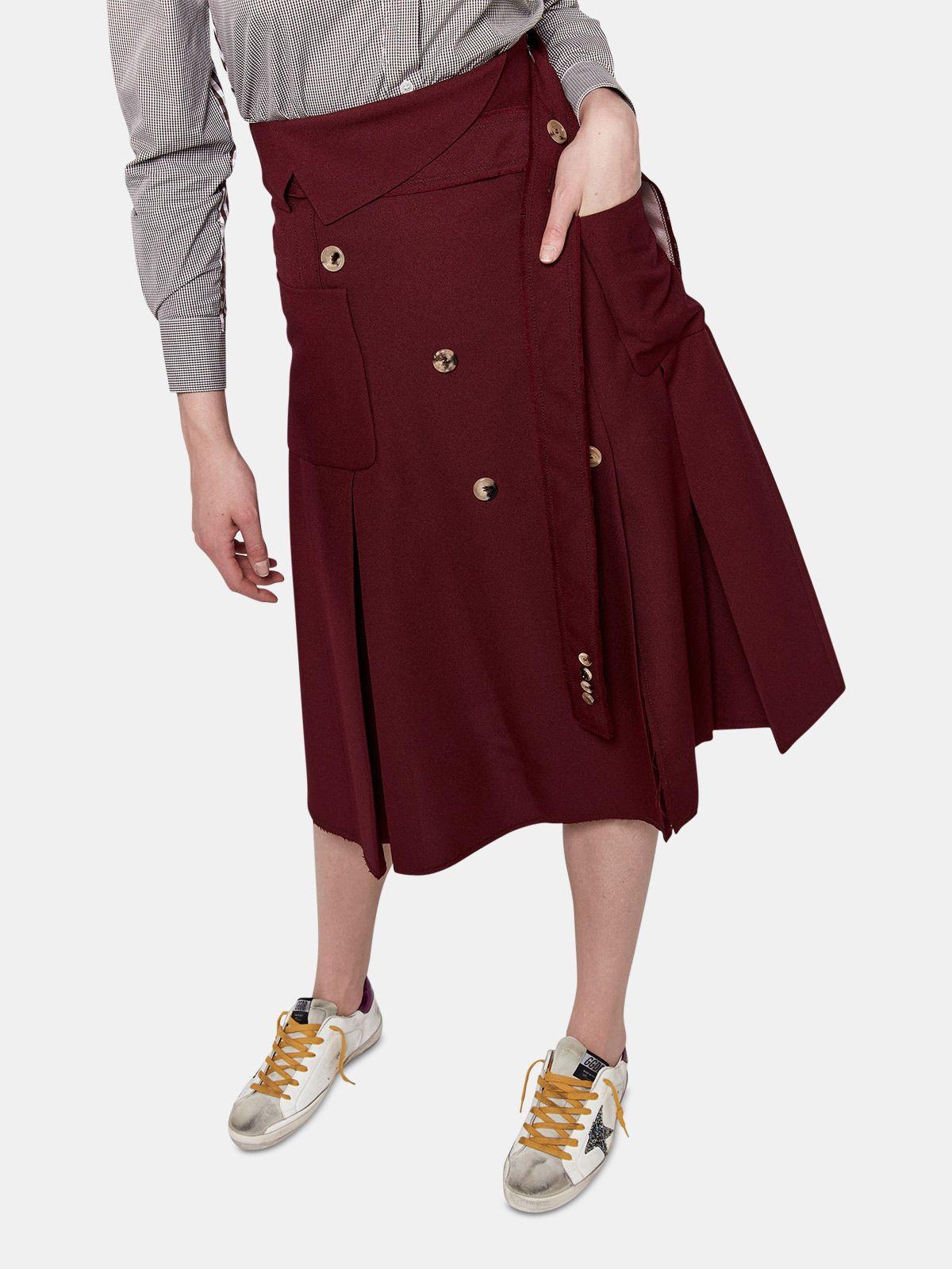Golden Goose - Makiko skirt in technical fabric in
