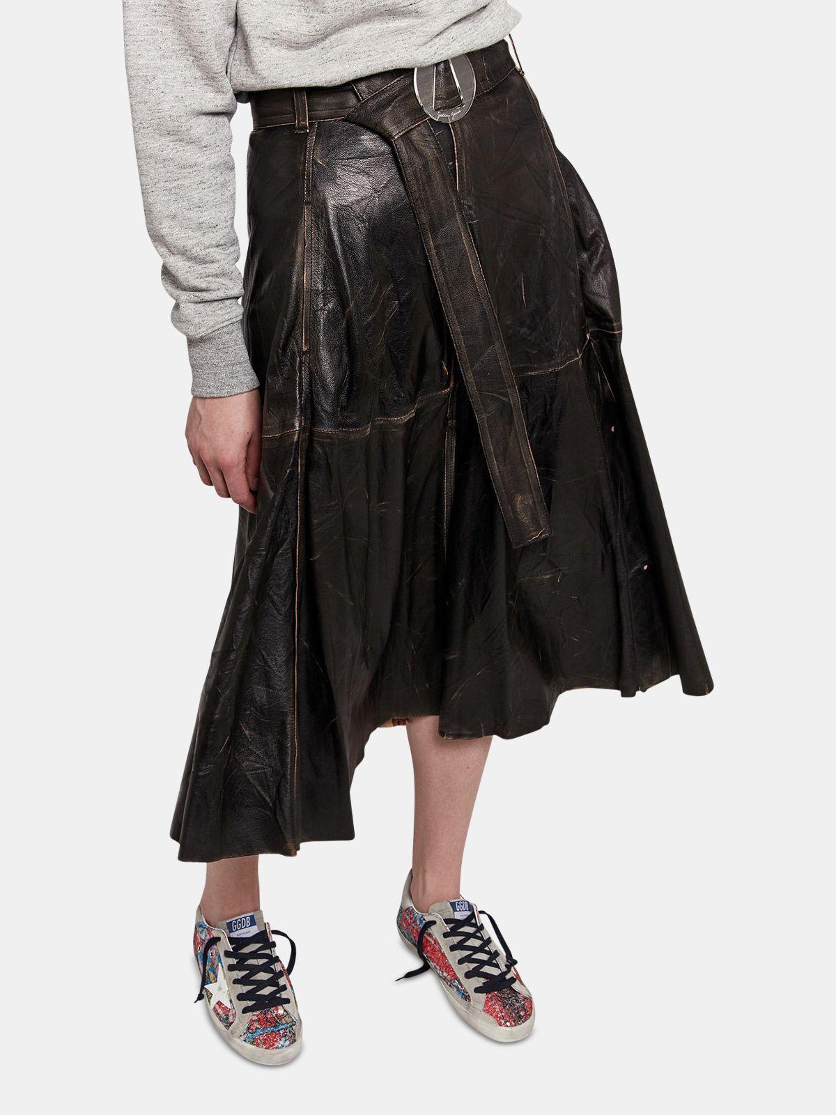 Golden Goose - Akemi leather skirt  in