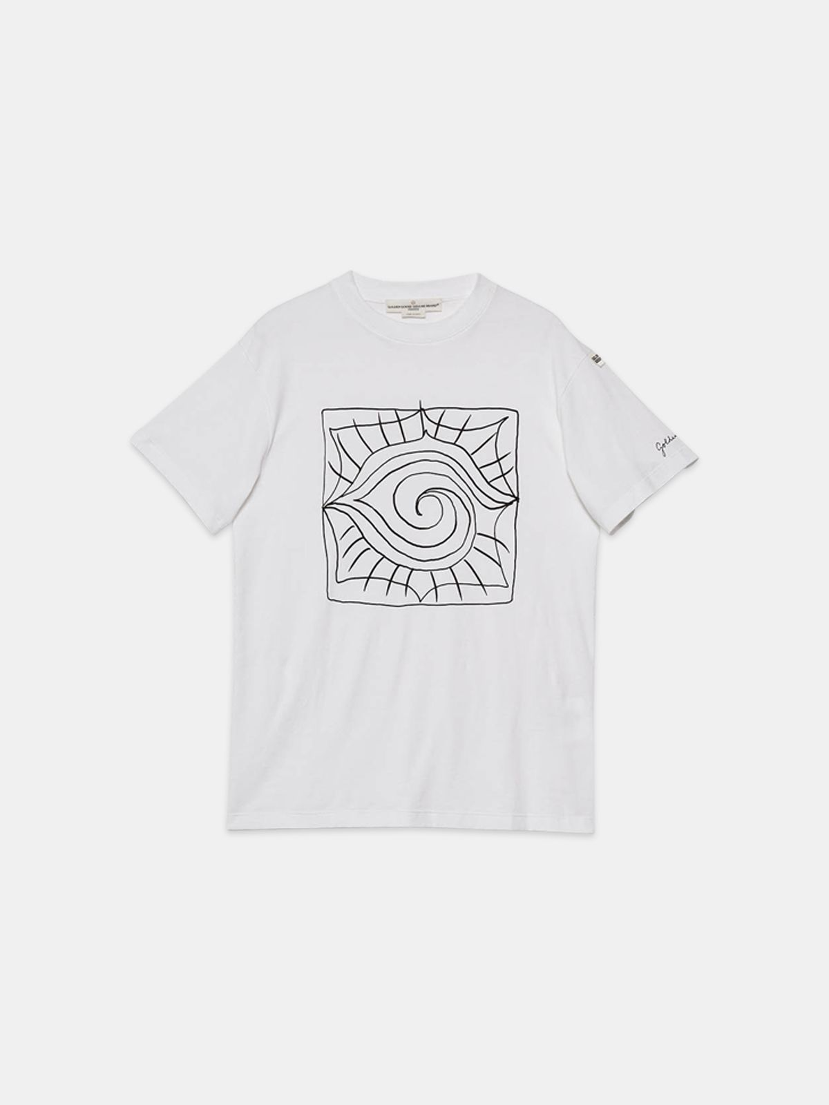 Golden Goose - Golden T-shirt with pattern on the front in