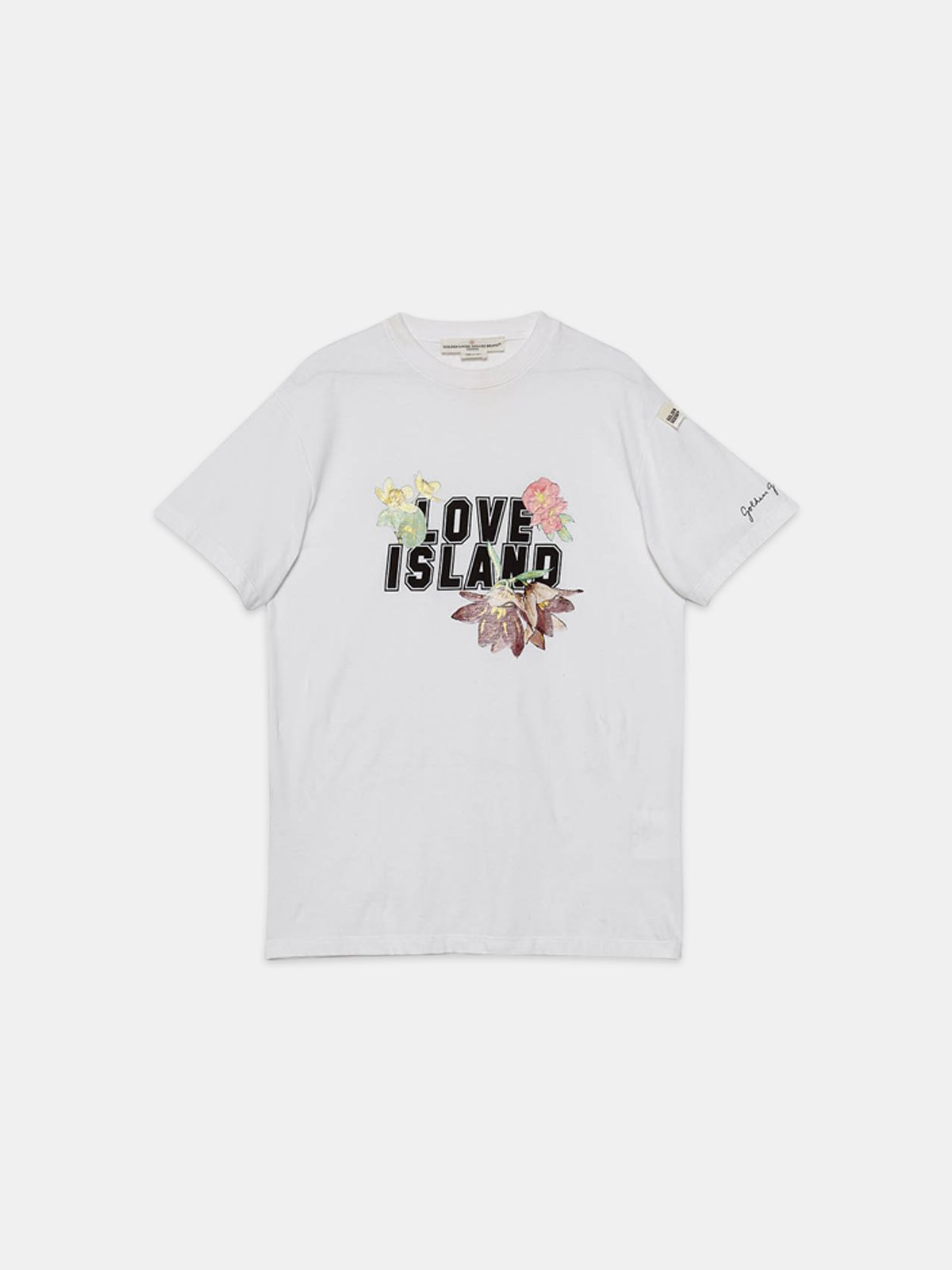 Golden Goose - Golden T-shirt with Love Island print in