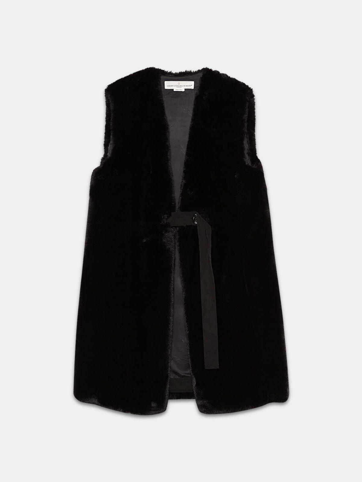 Golden Goose - Aiko faux fur waistcoat in