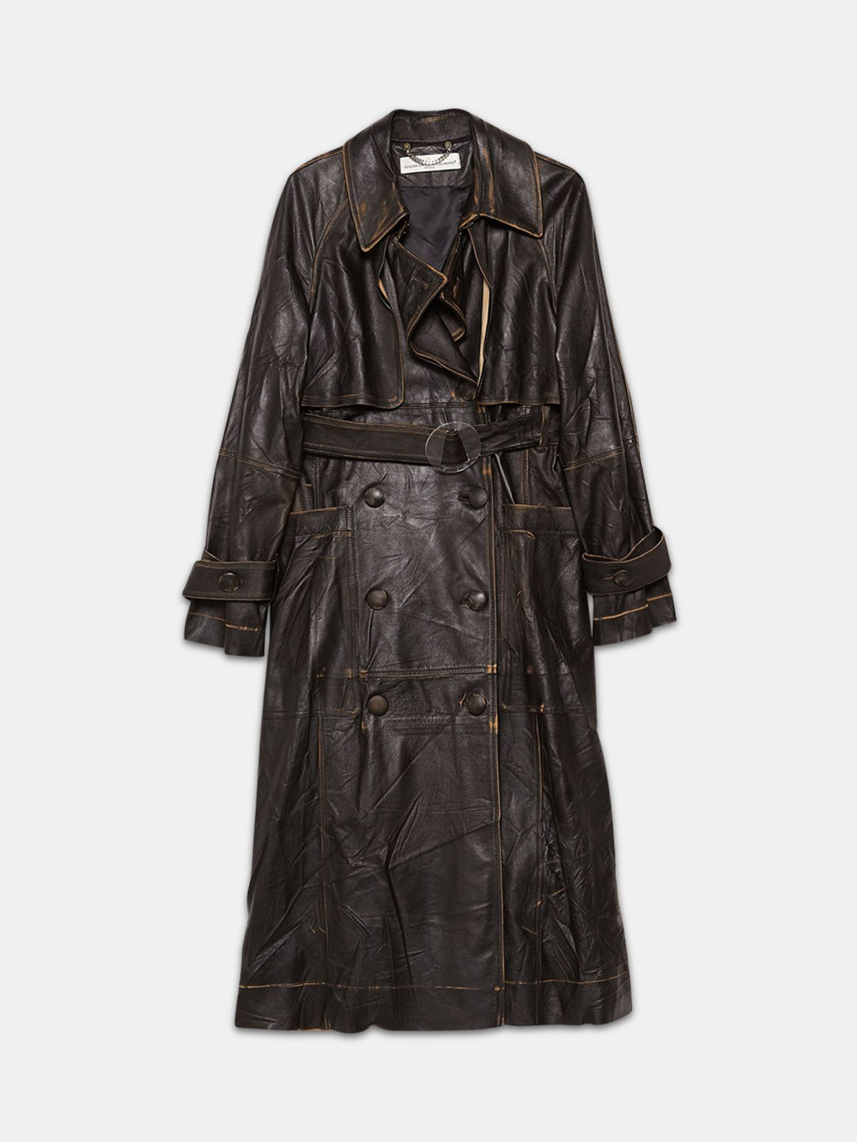 Golden Goose - Masami trenchcoat in vintage effect leather in