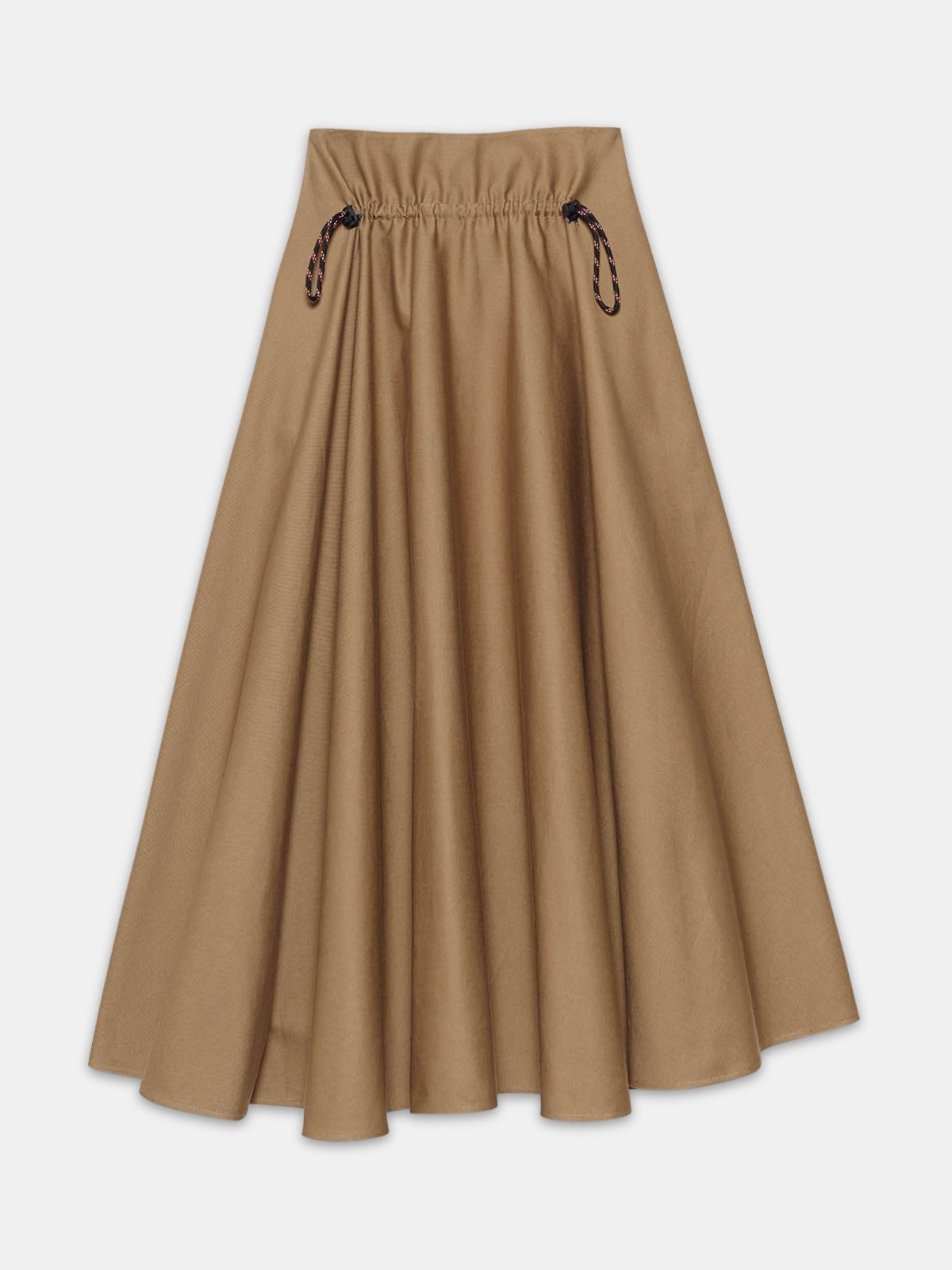 Golden Goose - Ayame skirt in taupe cotton in