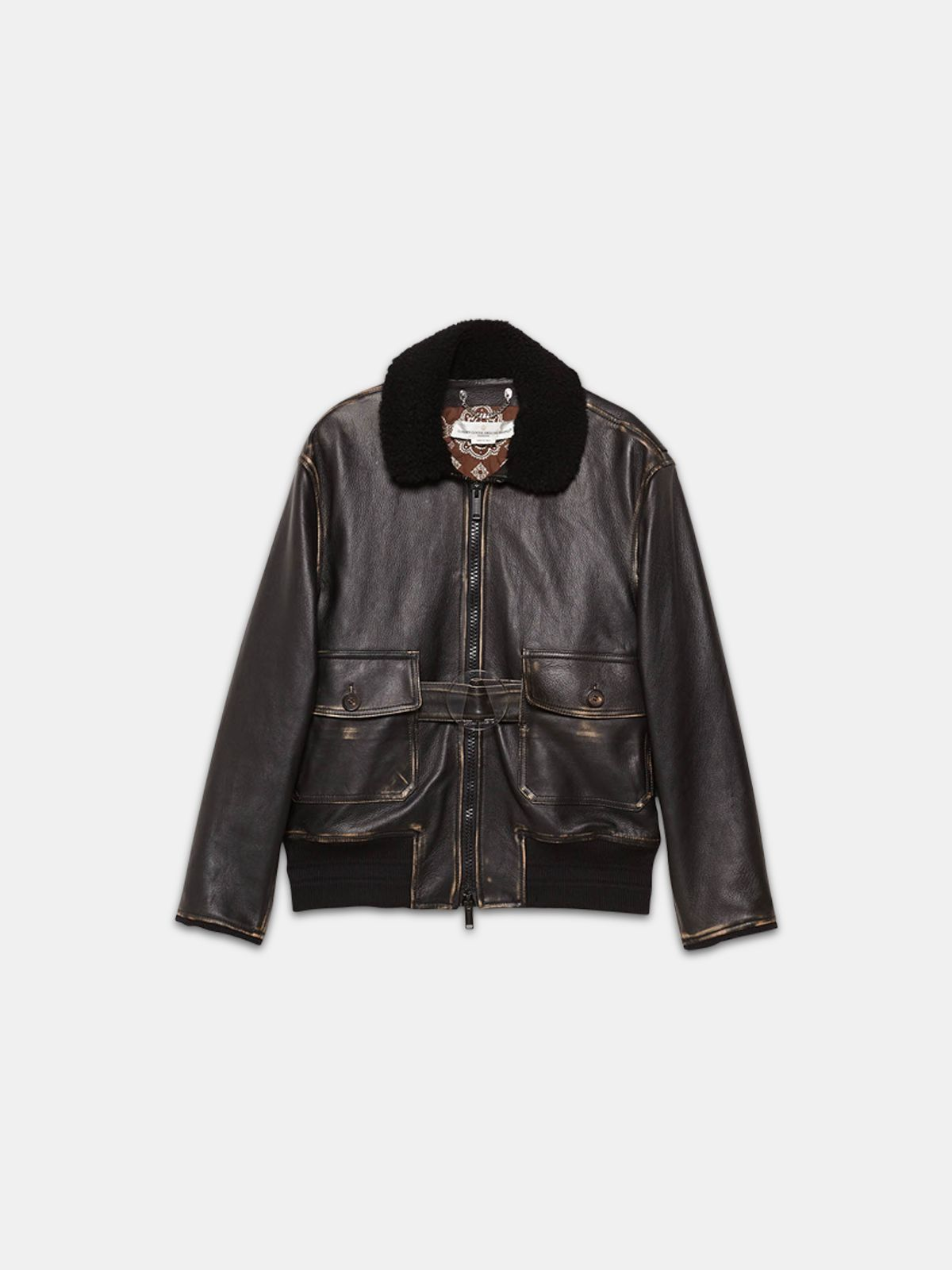 Golden Goose - Erika bomber jacket in vintage-look nappa leather in