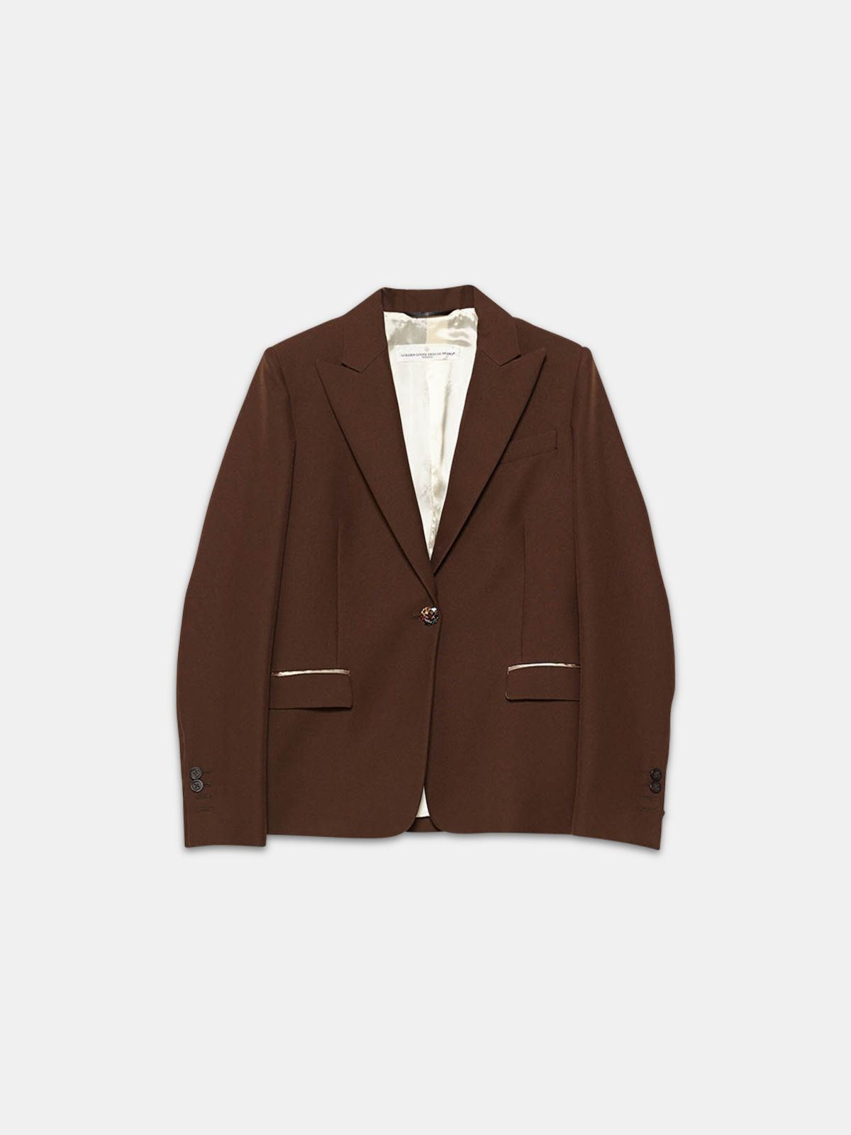 Golden Goose - Venice single-breasted jacket with bejewelled button in