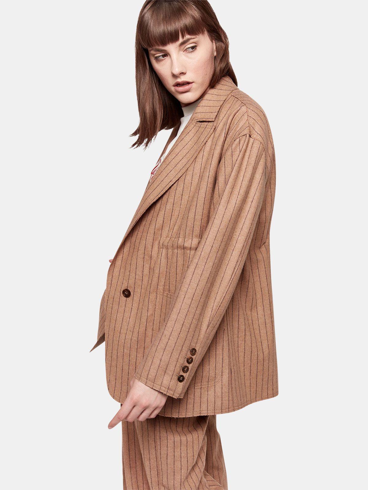 Golden Goose - Matsu oversized jacket in pin striped wool in