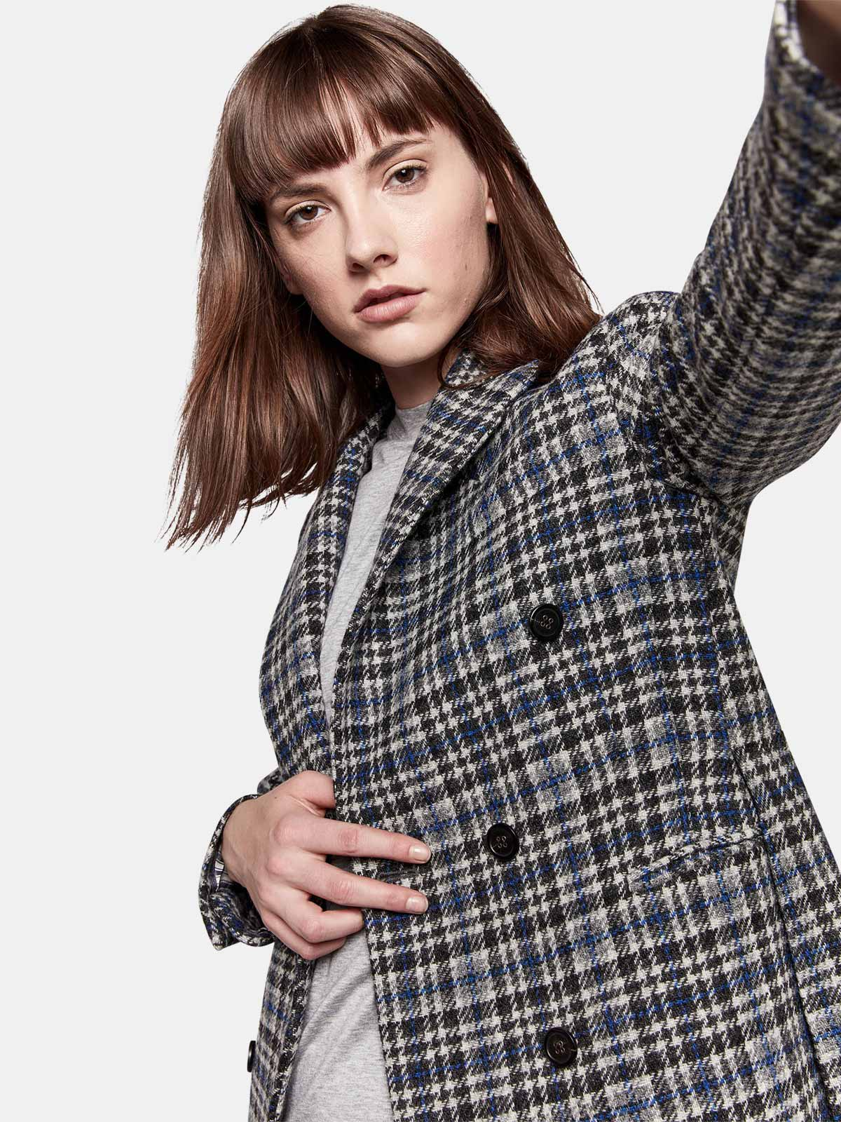 Golden Goose - Himawari jacket in virgin wool with checked pattern in