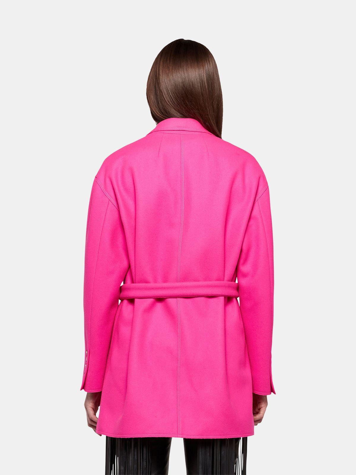 Golden Goose - Giacca Shion oversize in lana con cintura in vita in