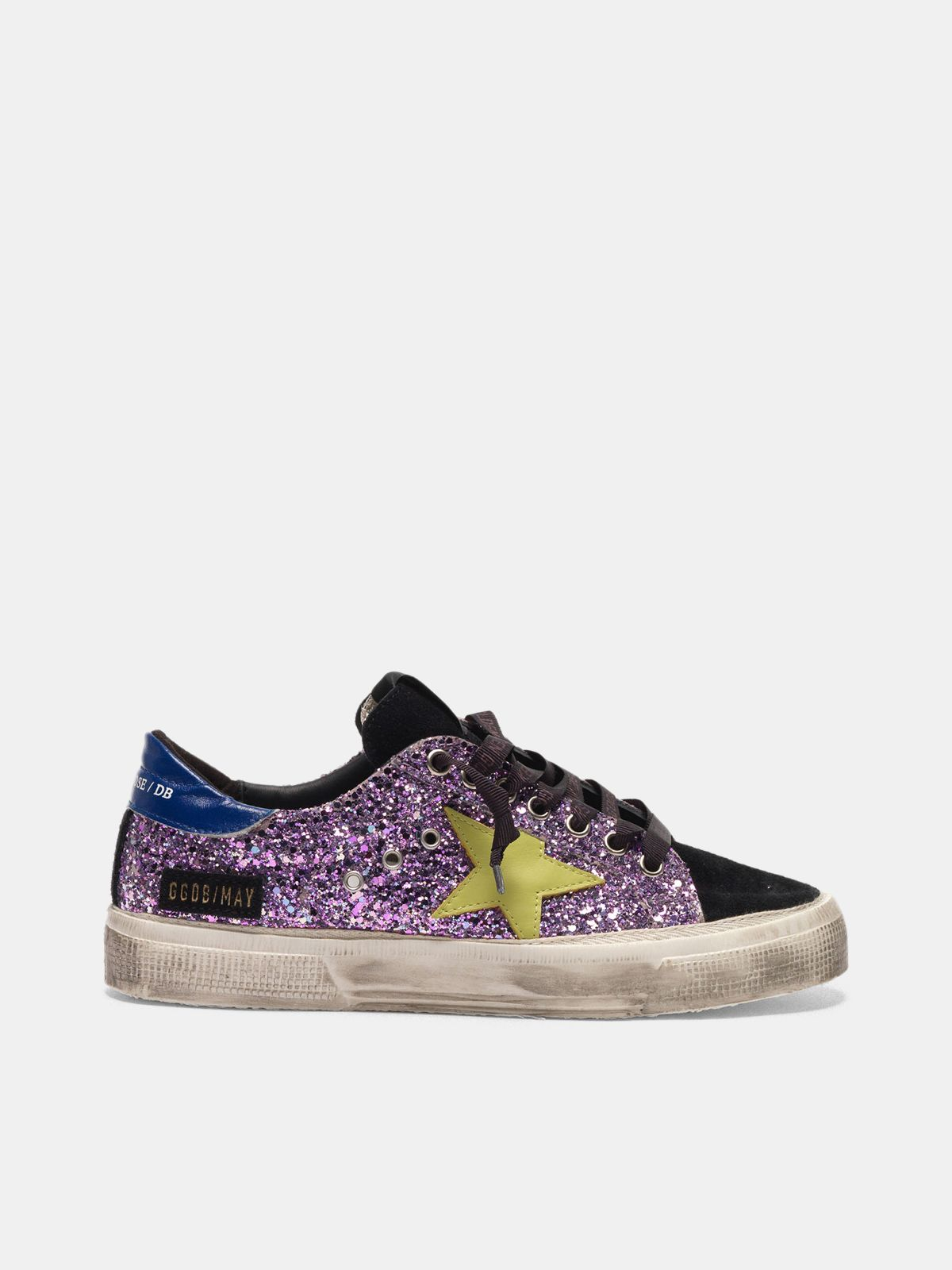 Golden Goose - May sneakers in glitter and suede leather in
