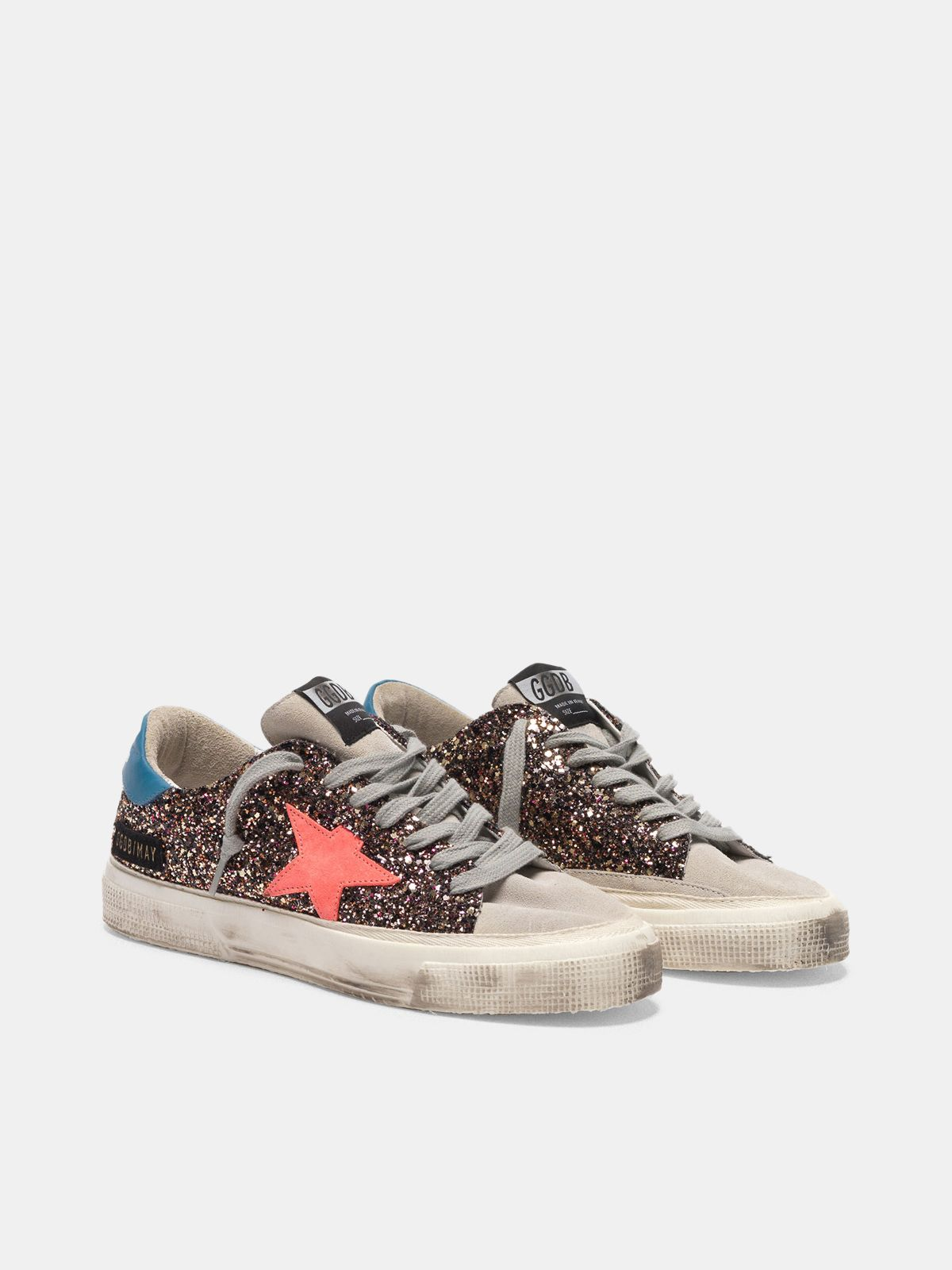 Golden Goose - May sneakers in glitter and suede in
