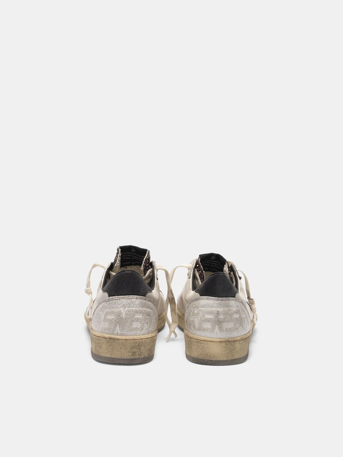 Golden Goose - Ball Star sneakers with glitter tongue in