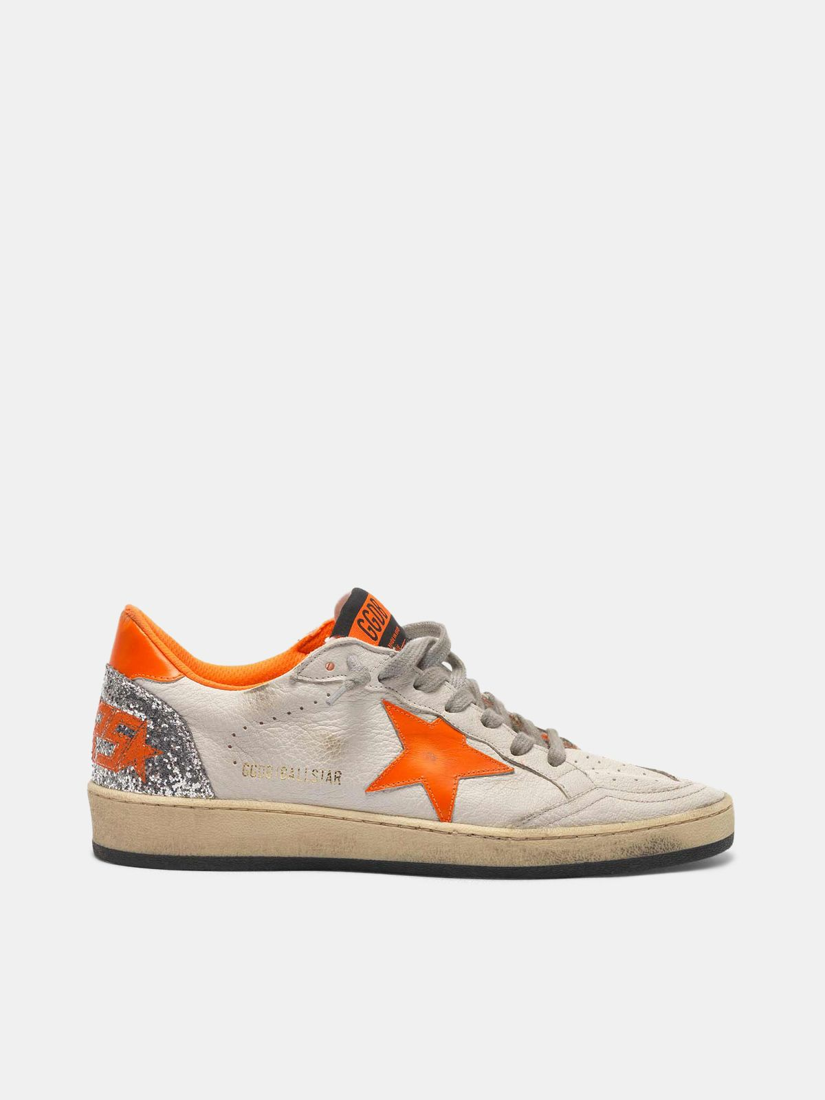 Golden Goose - Ball Star sneakers with fluorescent details and glittery back in