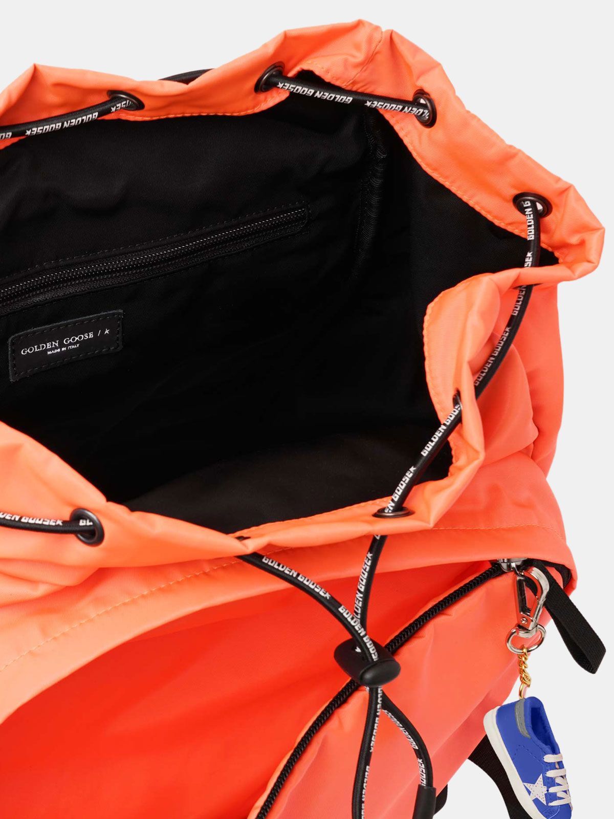 Golden Goose - Fluorescent orange nylon Journey backpack in
