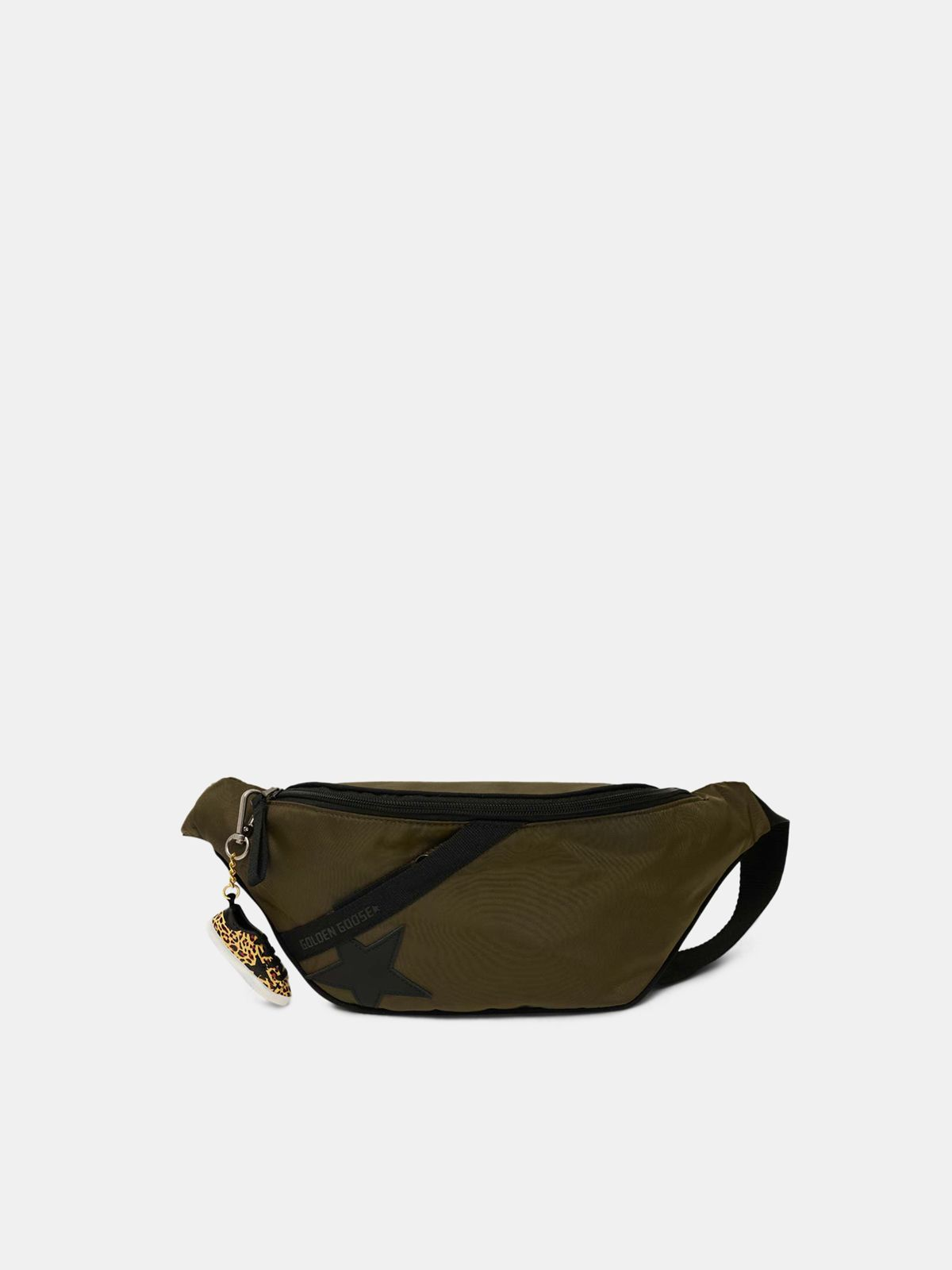 Marsupio Journey in nylon verde militare