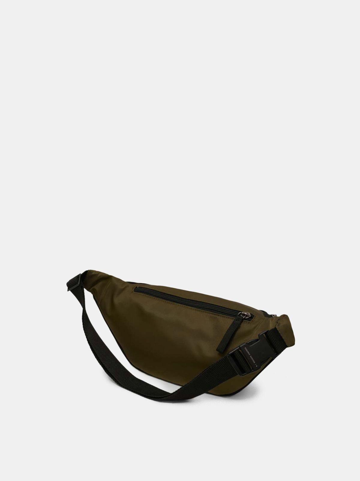 Golden Goose - Military green nylon Journey belt bag in