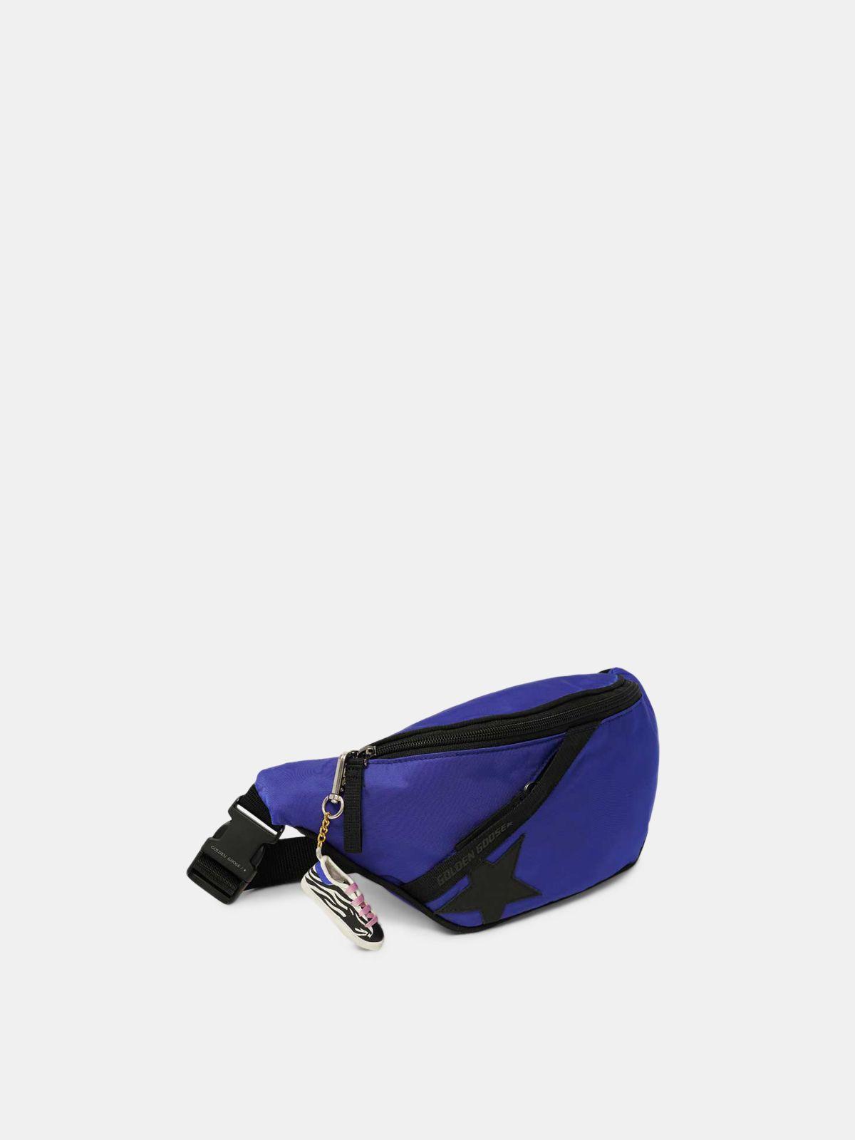 Golden Goose - Royal blue nylon Journey belt bag in