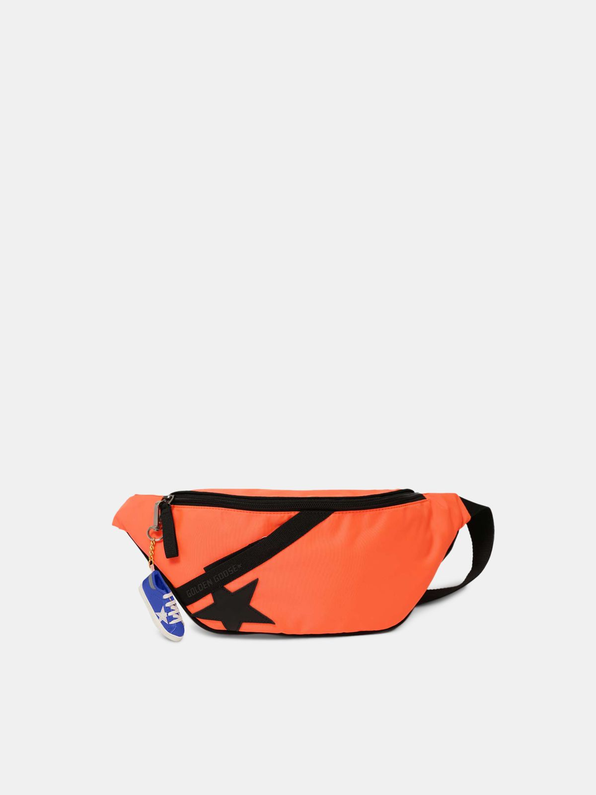 Fluorescent orange nylon Journey belt bag