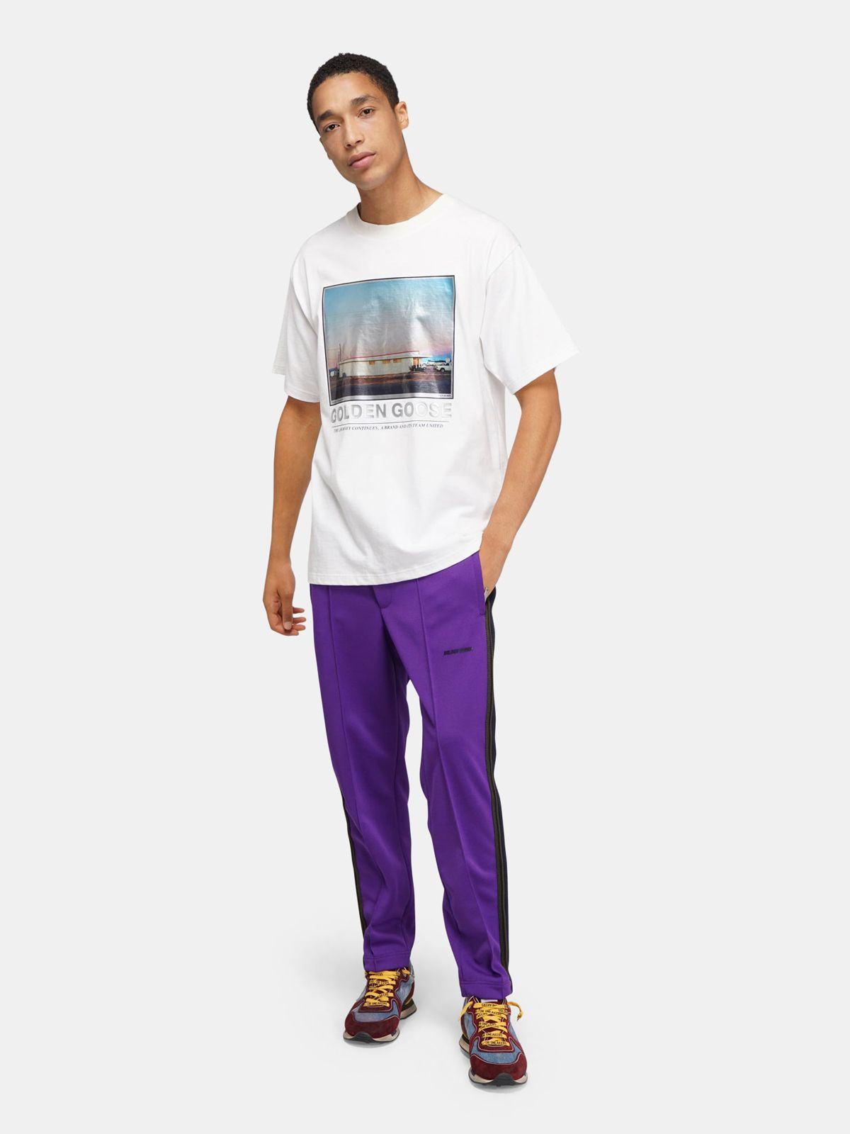 Golden Goose - Parker T-shirt with motel photograph print in