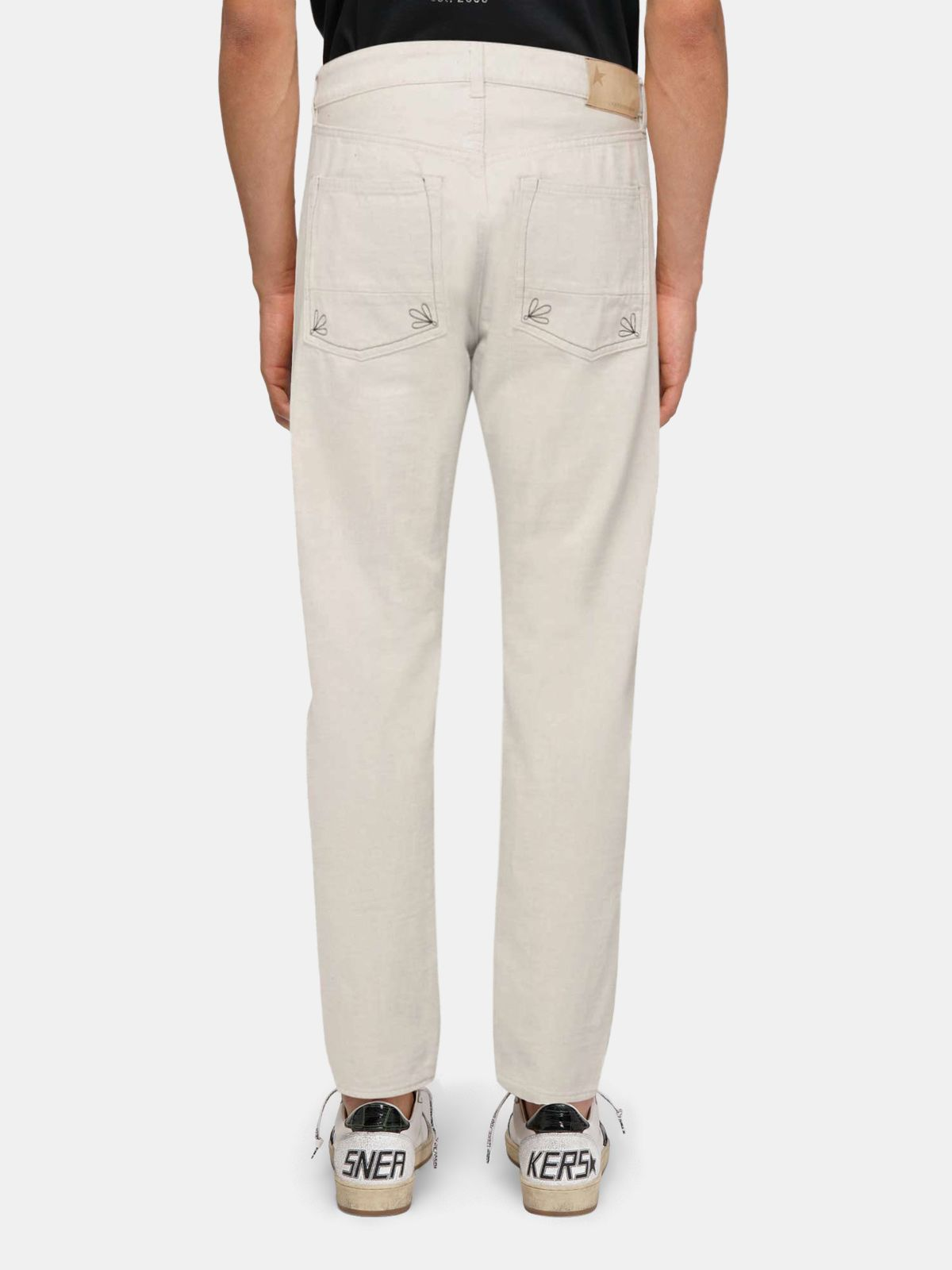 Golden Goose - White UP jeans in cotton bull in