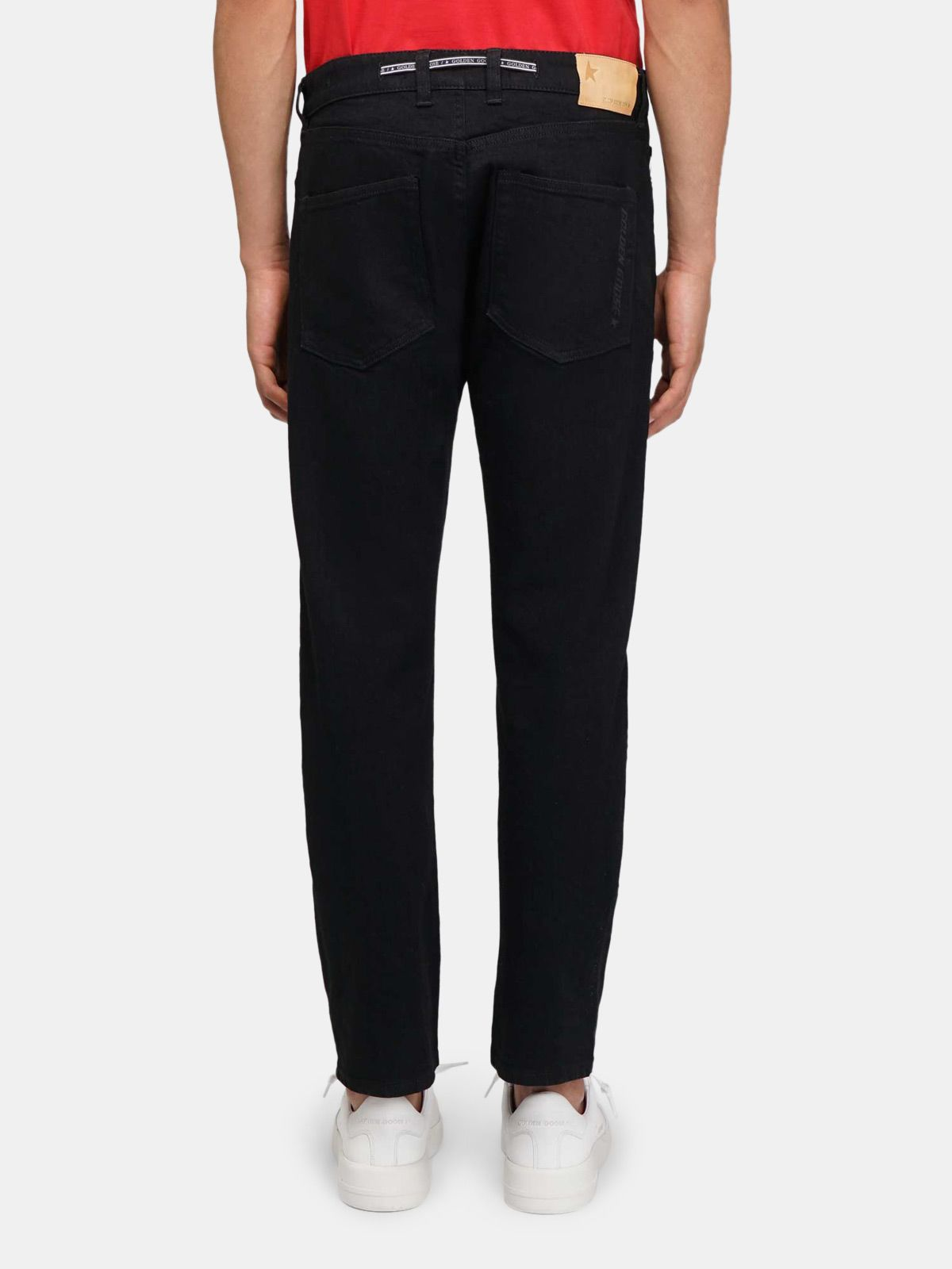 Golden Goose - Jeans Lit slim fit in cotone nero elasticizzato in