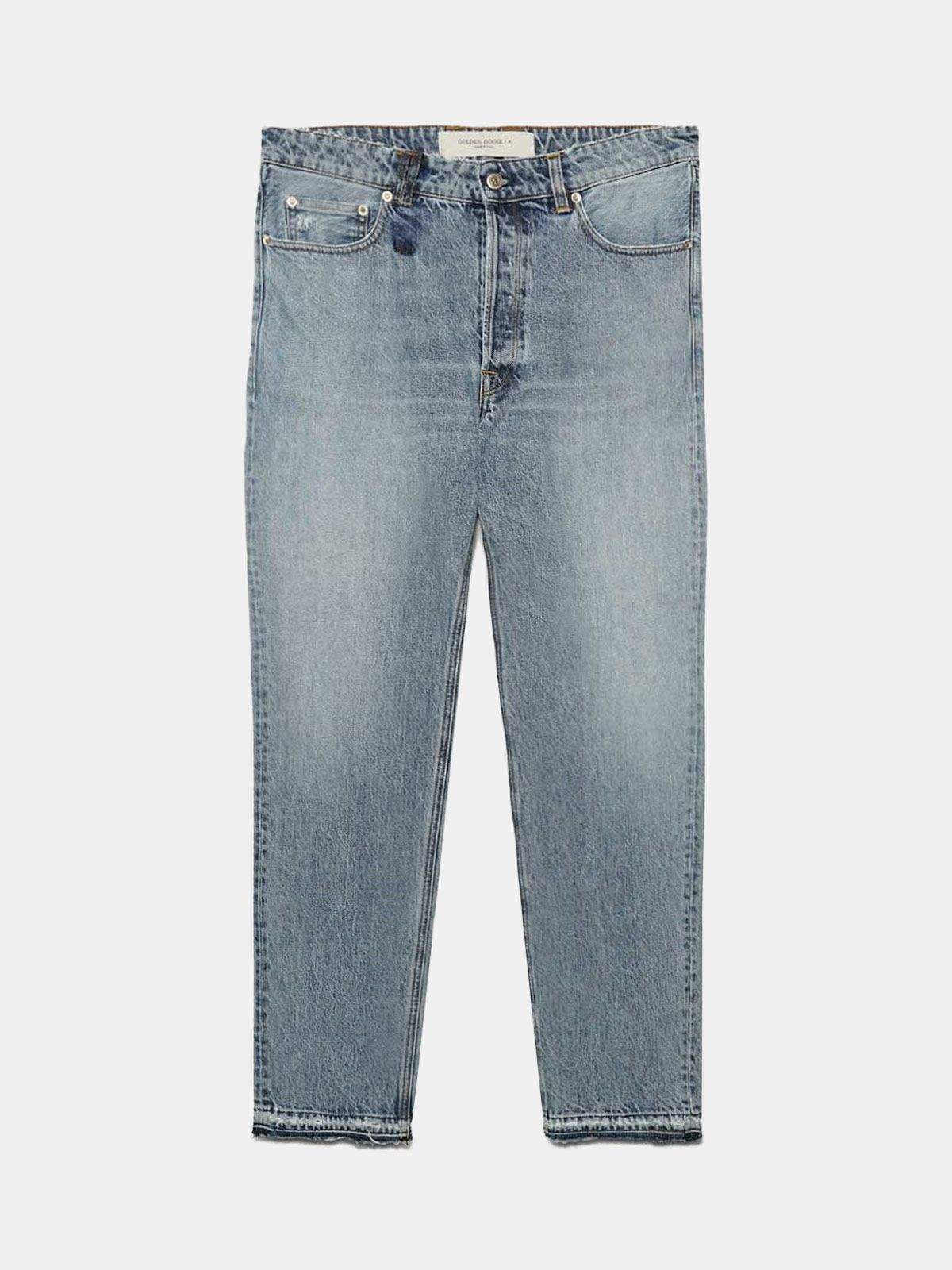 Golden Goose - Slim-fit Happy jeans in cotton in