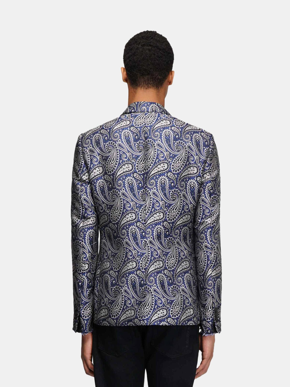 Golden Goose - Single-breasted Milano jacket with jacquard paisley motif in