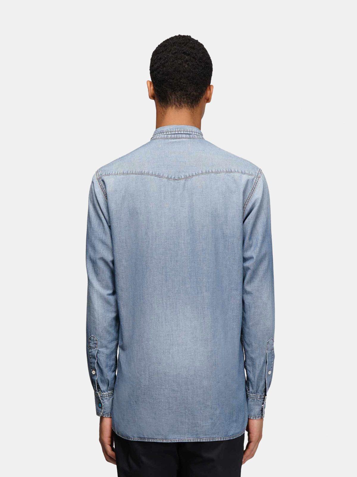 Golden Goose - Austin shirt in cotton denim in