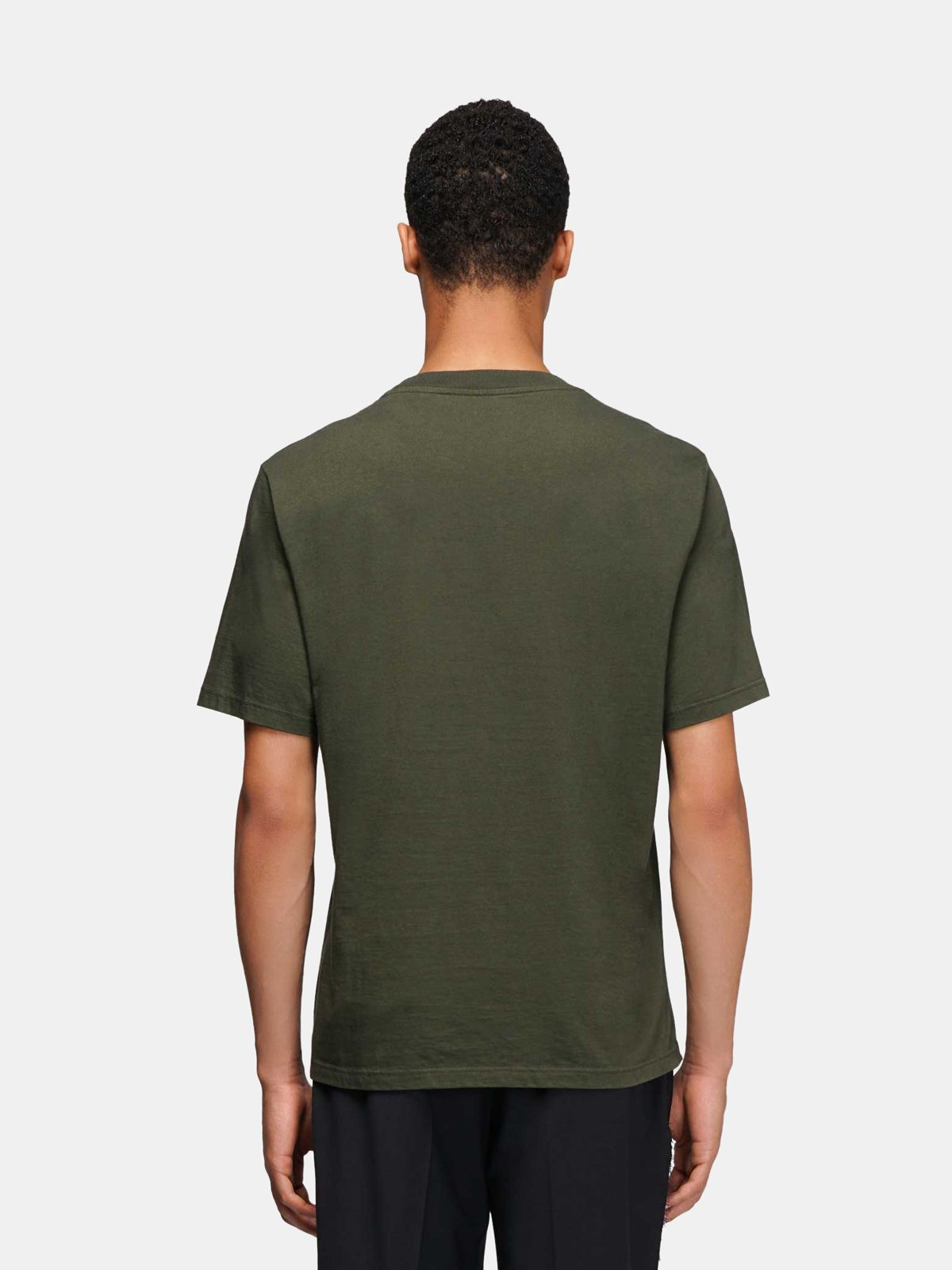 Golden Goose - Green Golden T-shirt with contrasting print in
