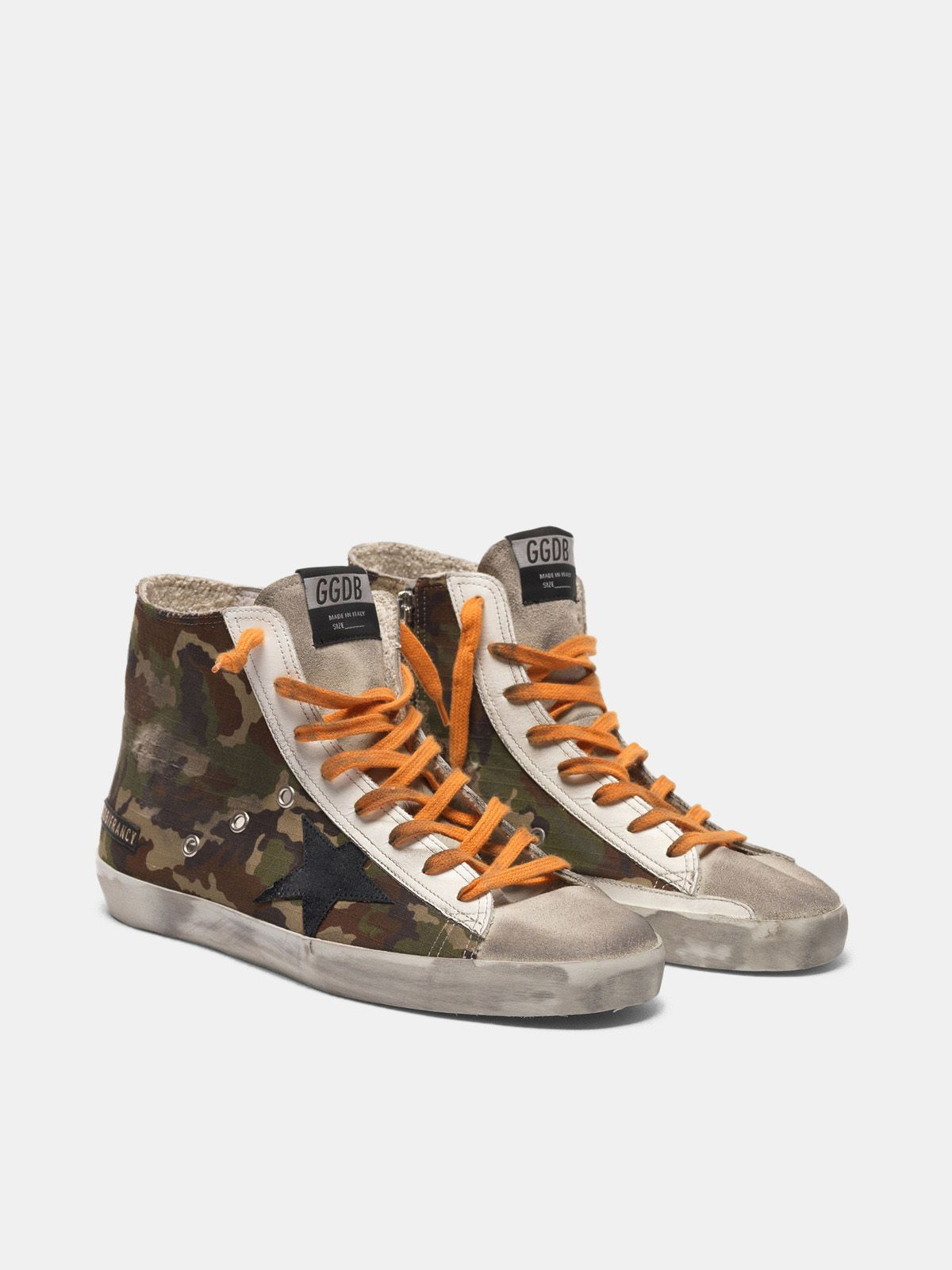 Golden Goose - Francy sneakers with pixel camouflage pattern in