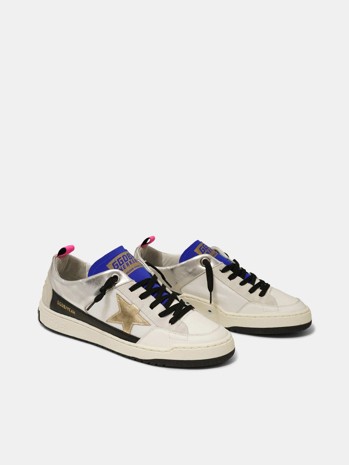 Golden Goose - Sneakers Yeah! bianche con stella dorata in