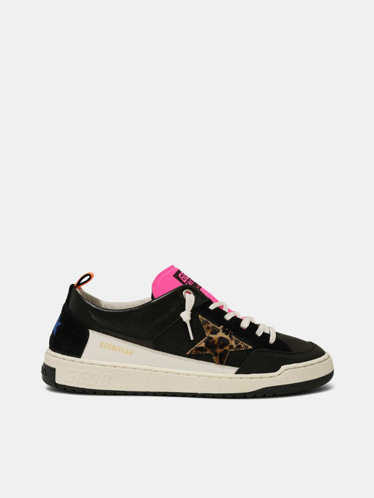 Golden Goose - Sneakers Yeah! nere con stella leopardata in