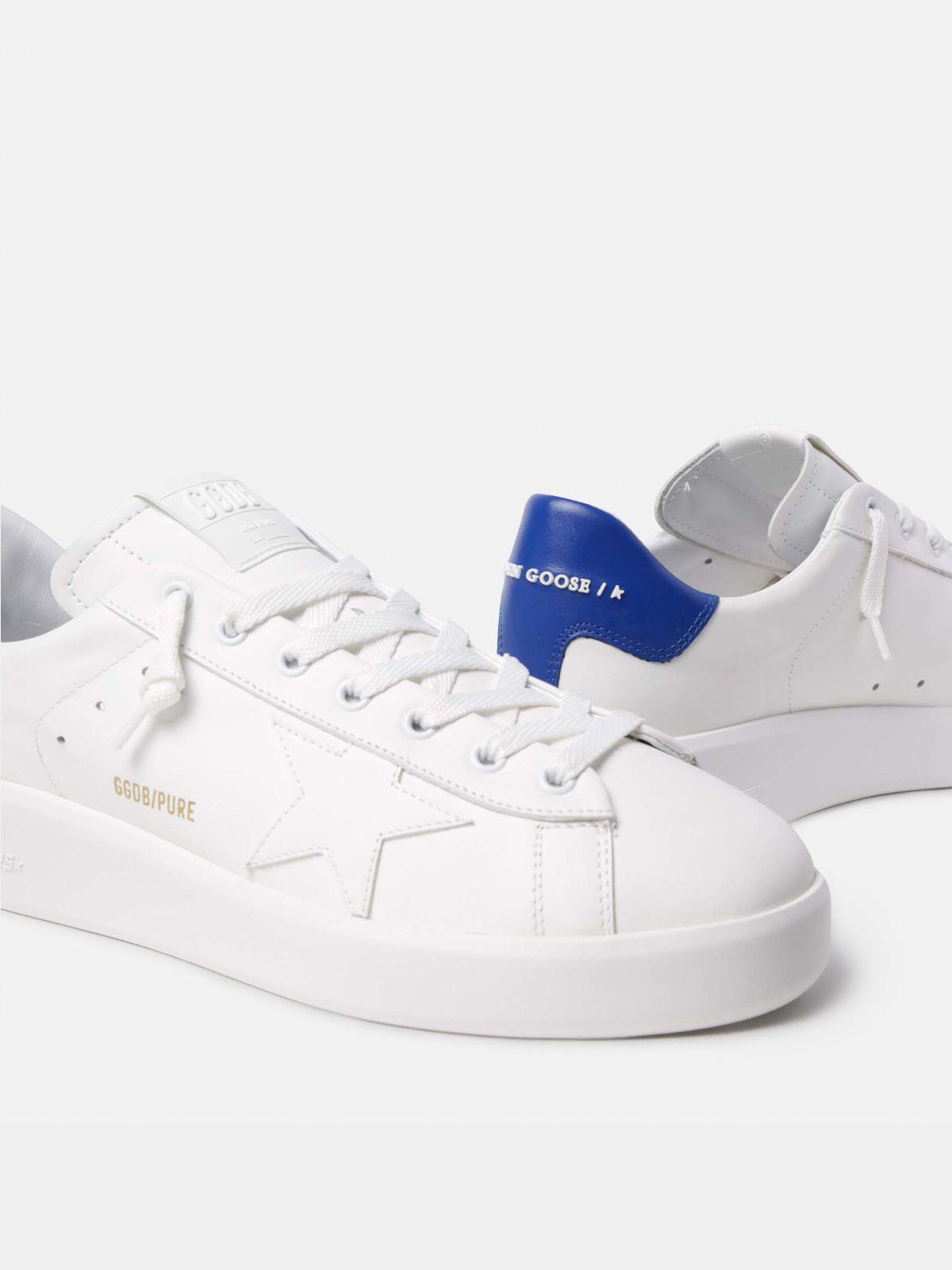 Golden Goose - PURESTAR sneakers with blue heel tab in
