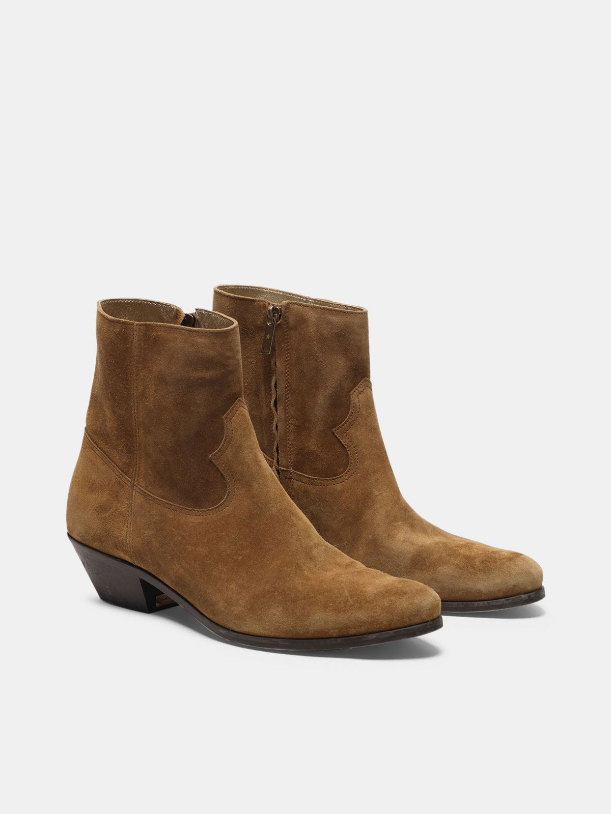 Golden Goose - Younger ankle boots in mustard suede leather in