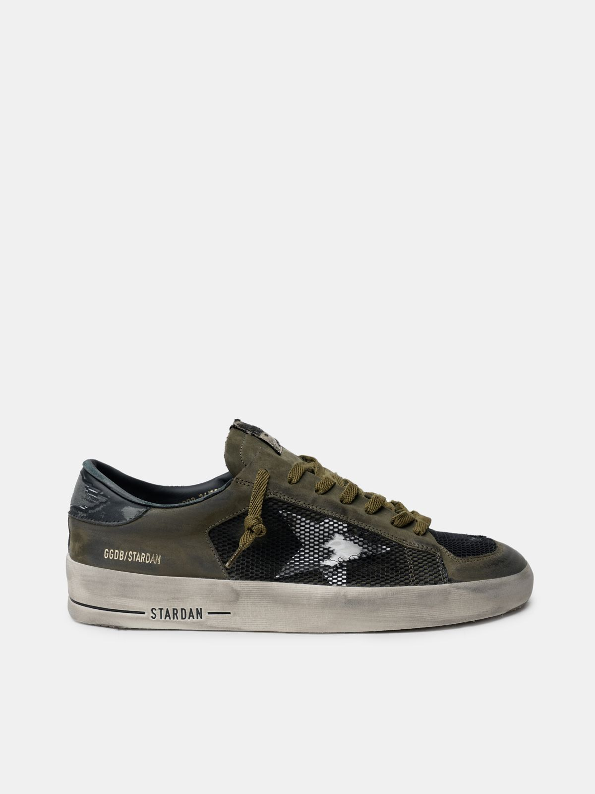 Golden Goose - Military green and black Stardan sneakers in