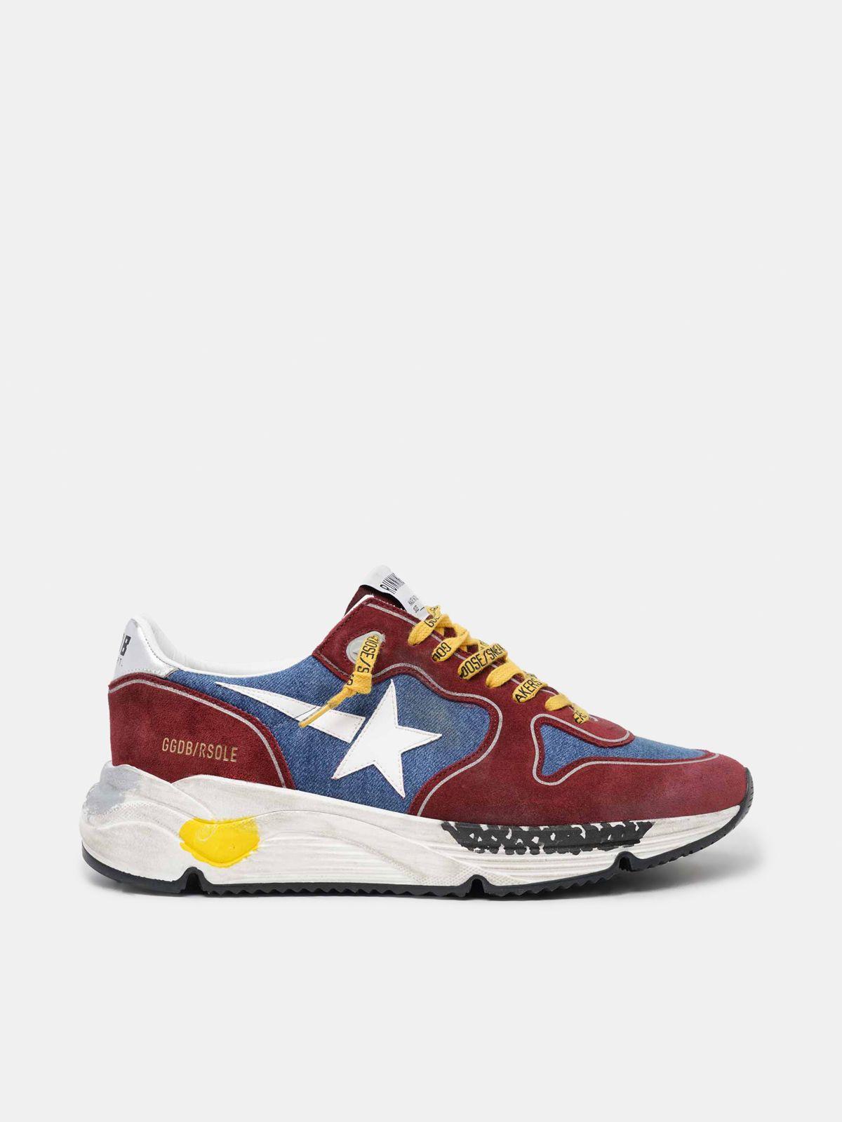 Sneakers Running Sole bordeaux et bleu