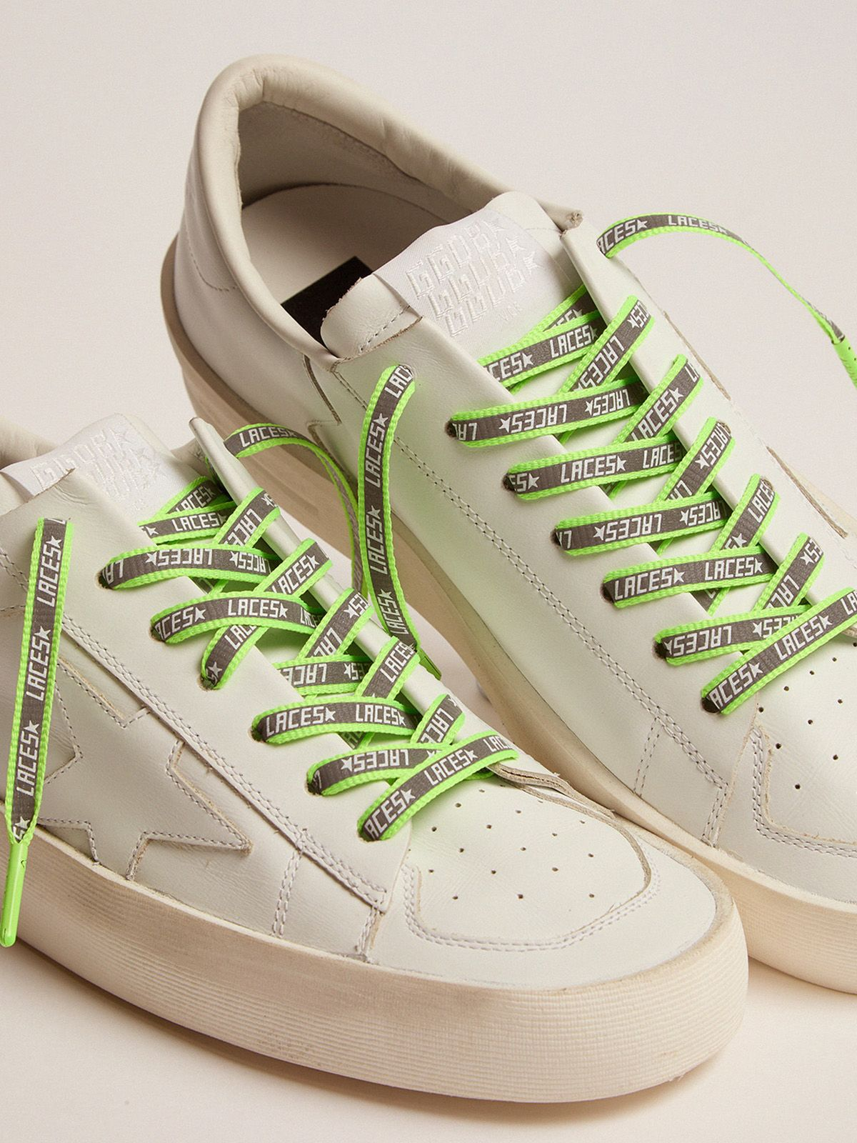 Golden Goose - Women's neon green reflective laces with laces print in