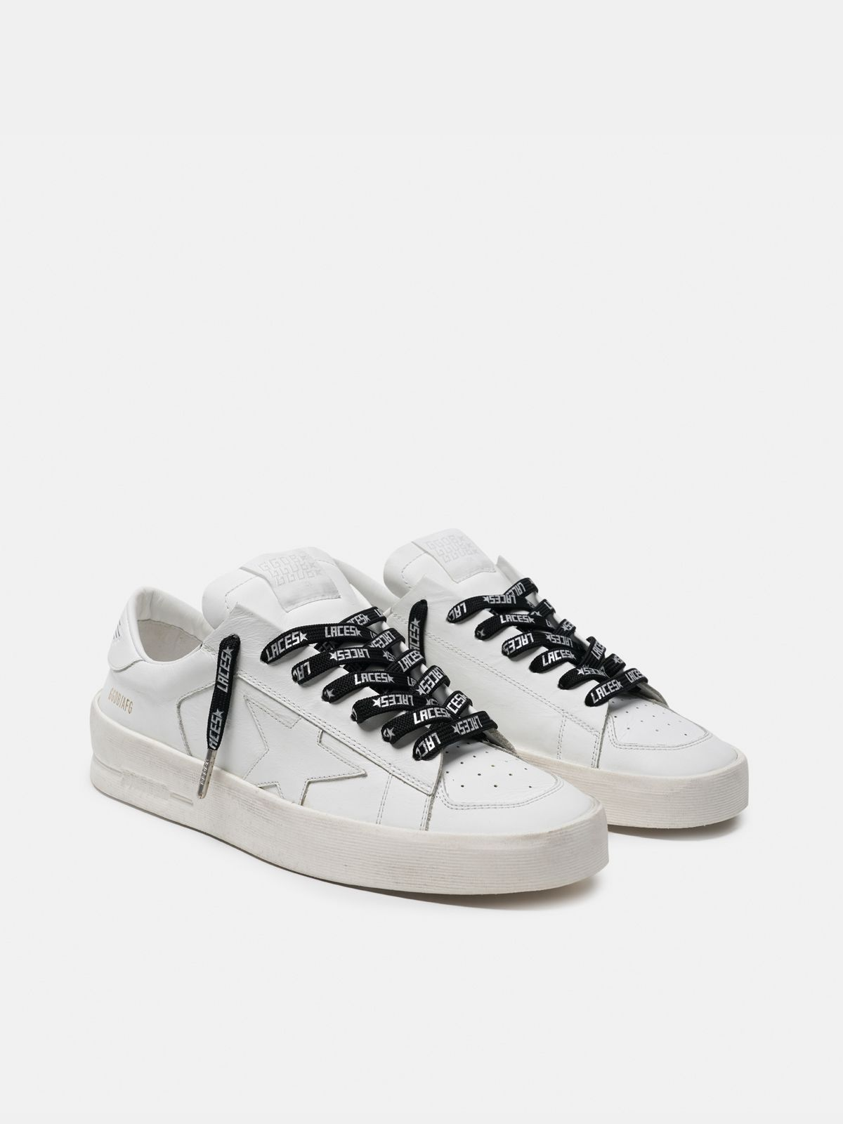 Golden Goose - Women's black laces with silver laces print in