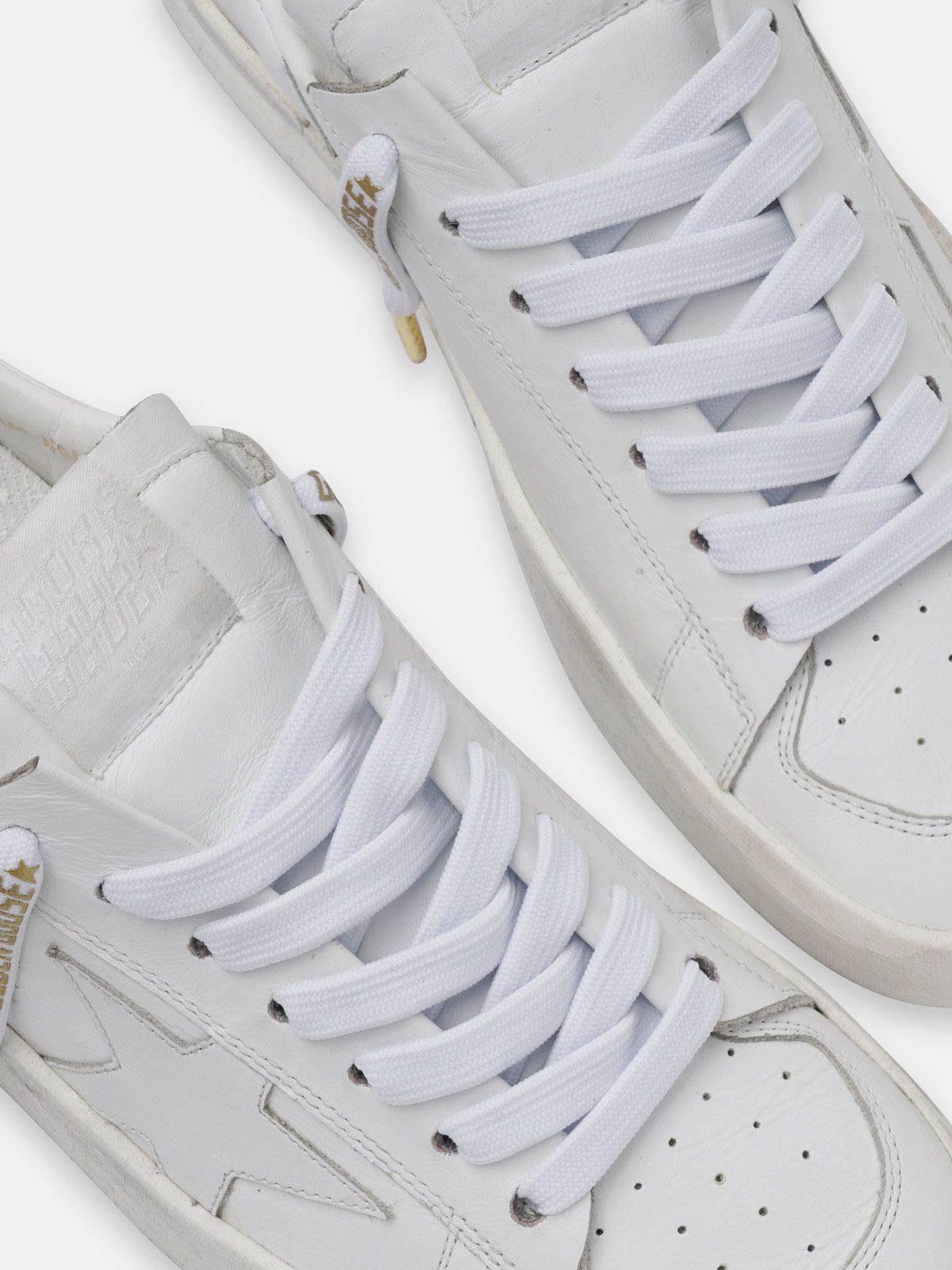 Golden Goose - Women's white laces with gold logo in