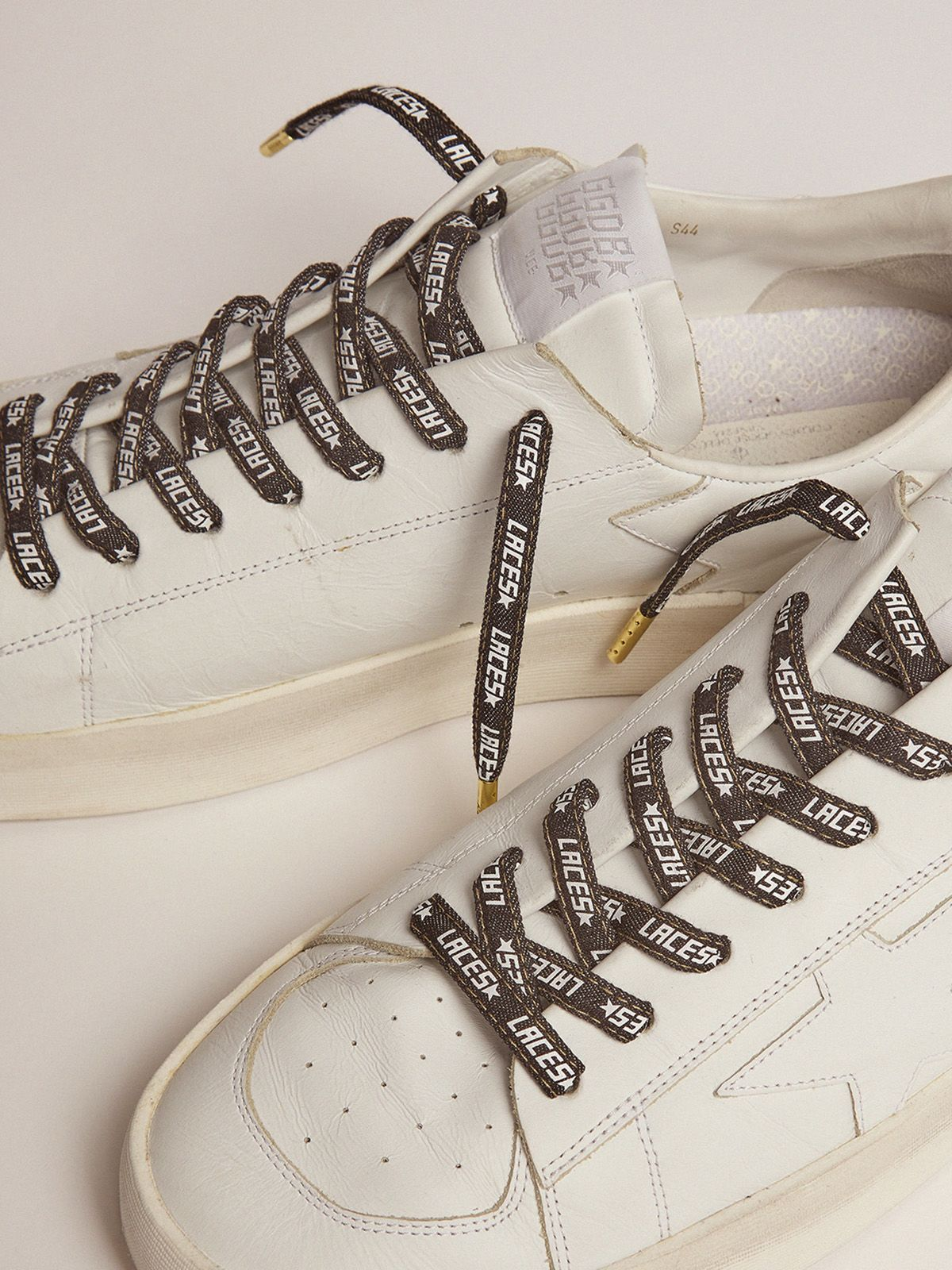Golden Goose - Men's denim laces with white laces print in