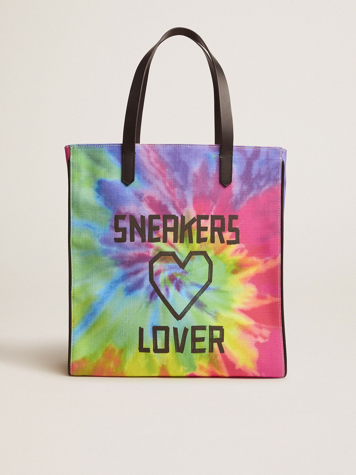 Golden Goose - California North-South tie-dye bag with Sneakers Lover print in